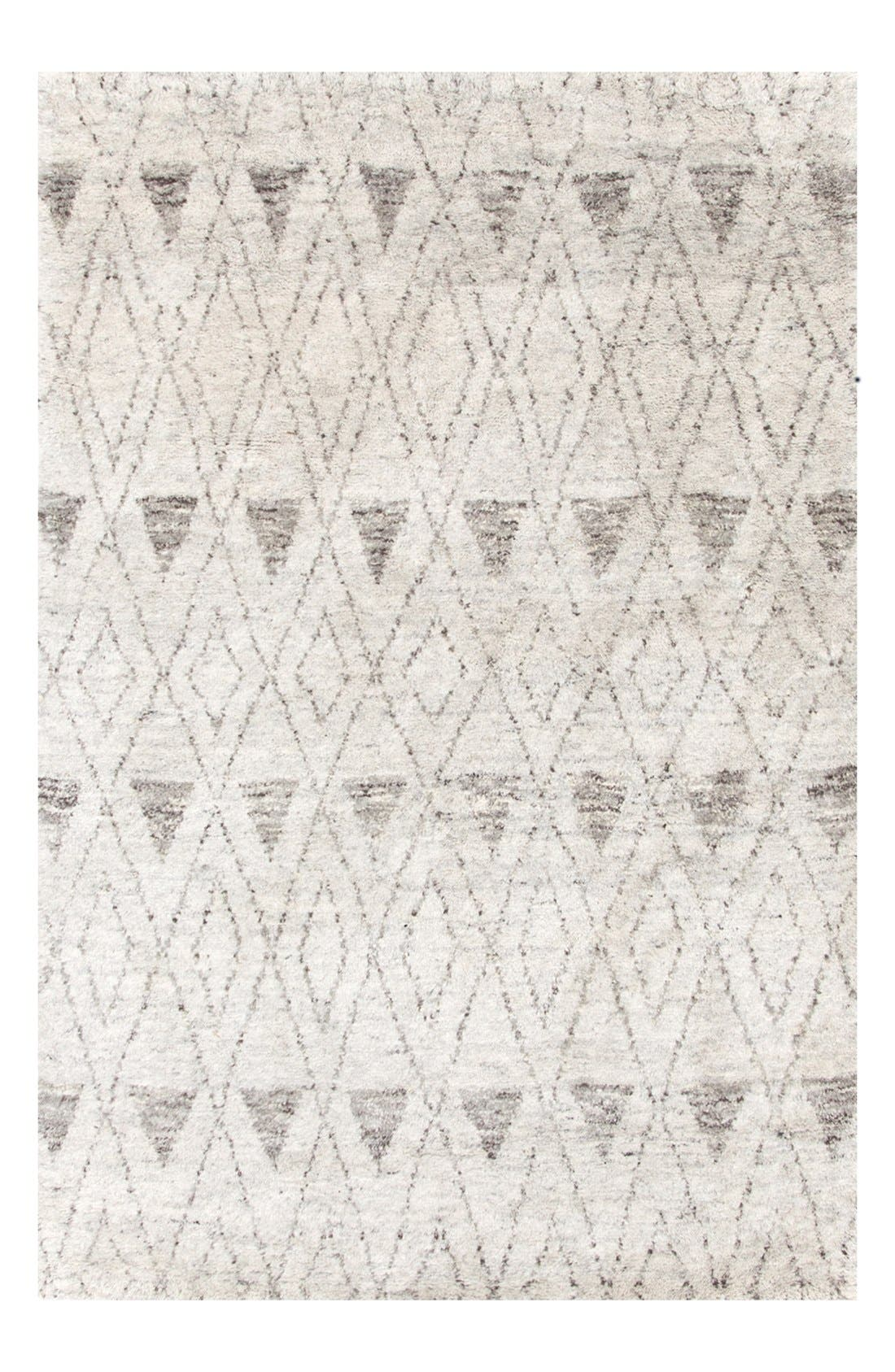 'Masinissa' Hand Knotted Rug,                             Alternate thumbnail 3, color,                             GREY/ MULTI