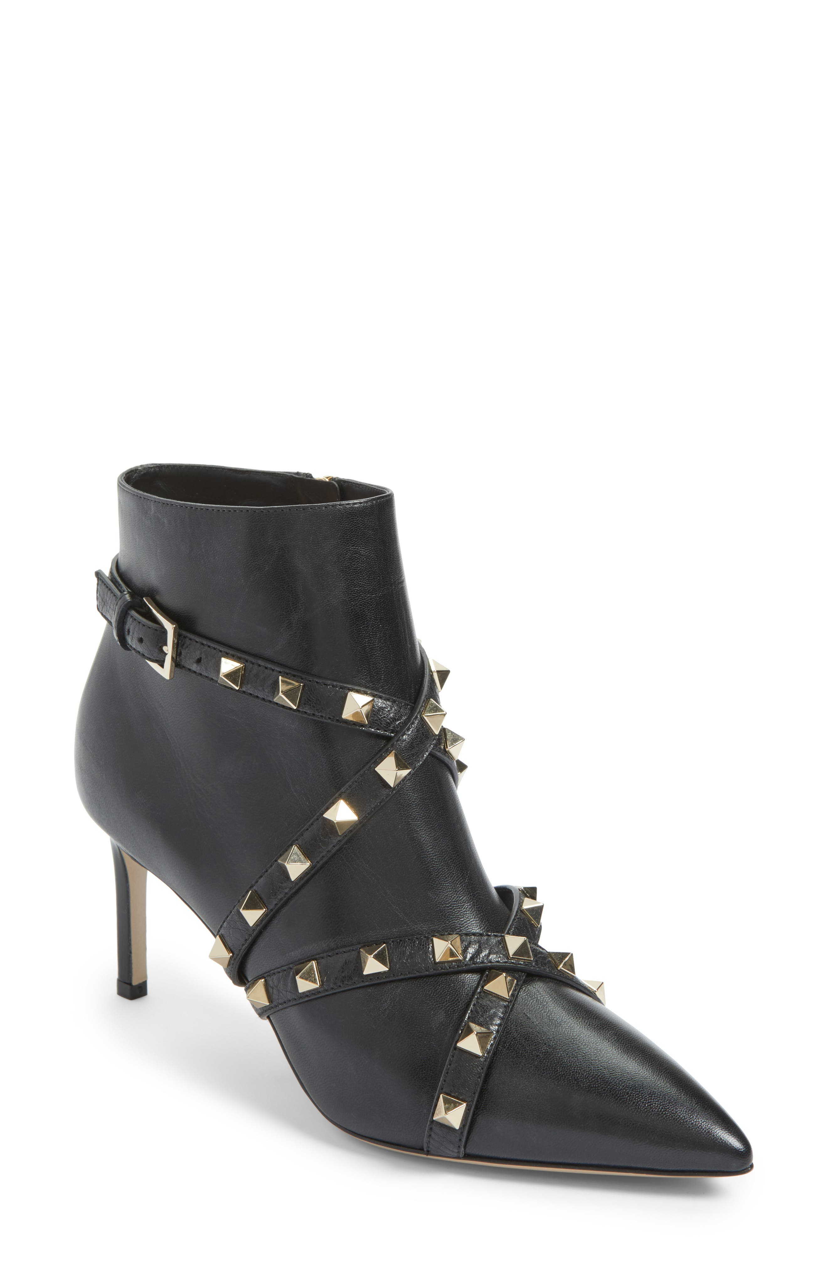 Rockstud Wrapped Bootie,                             Main thumbnail 1, color,                             001
