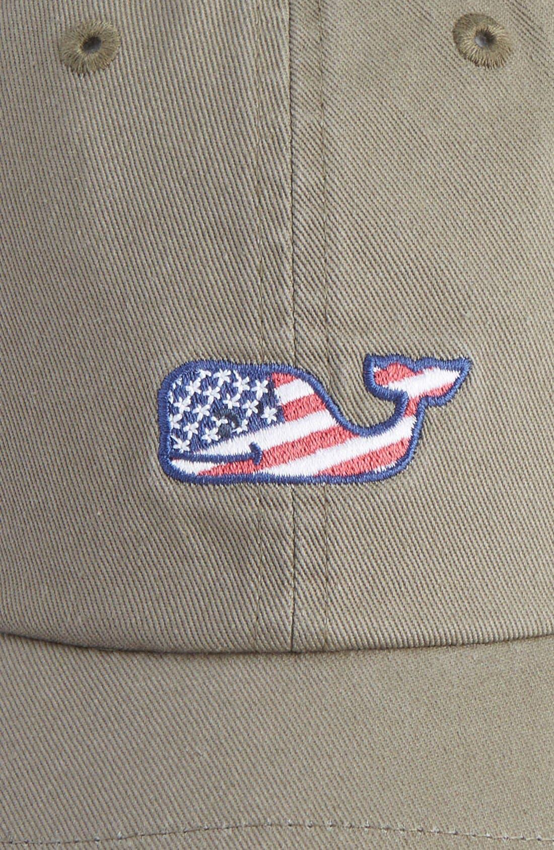 Flag Whale Logo Baseball Cap,                             Alternate thumbnail 2, color,                             398
