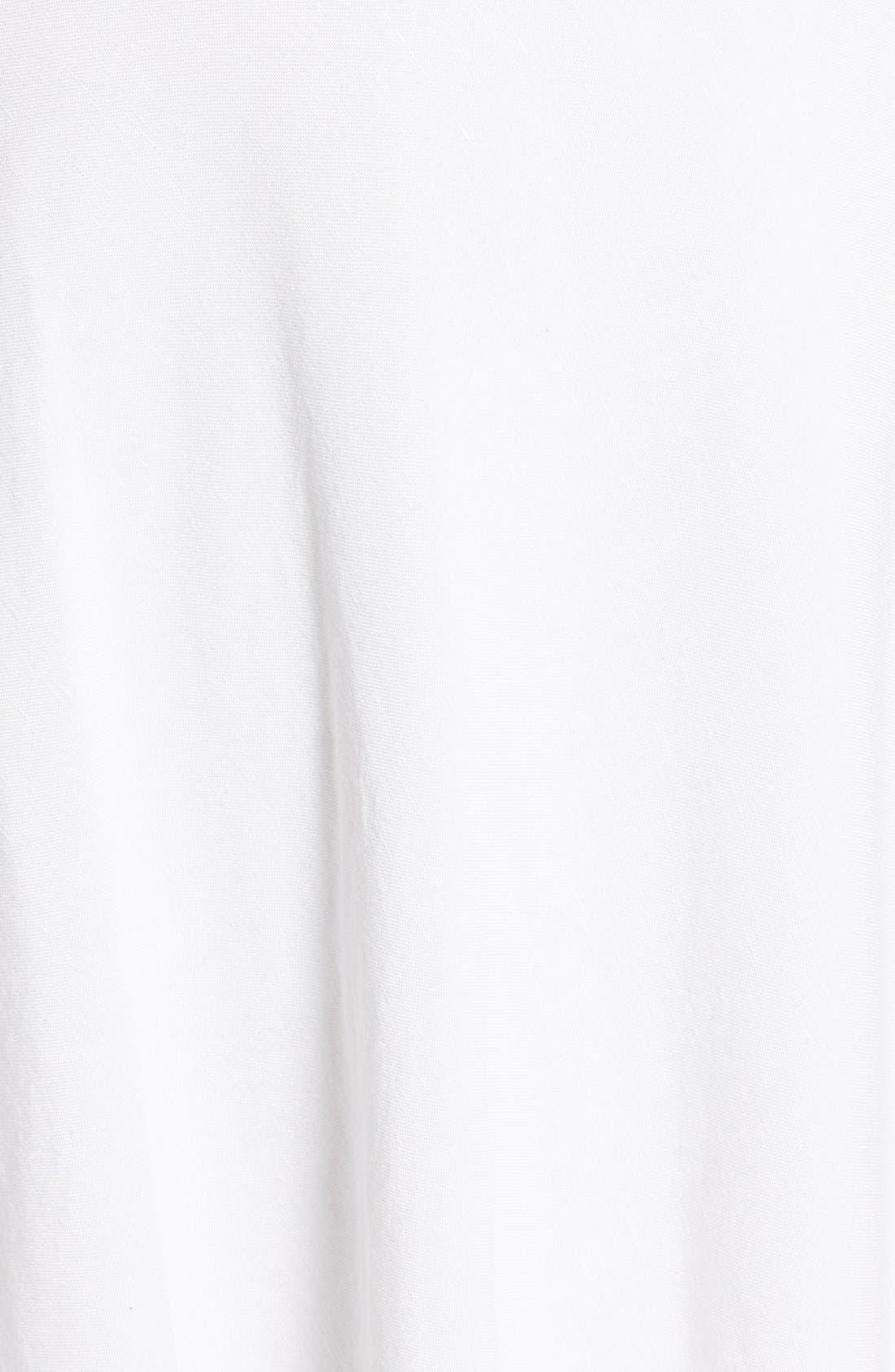 NIC+ZOE,                             Summer Fling Linen Blend Skirt,                             Alternate thumbnail 5, color,                             PAPER WHITE