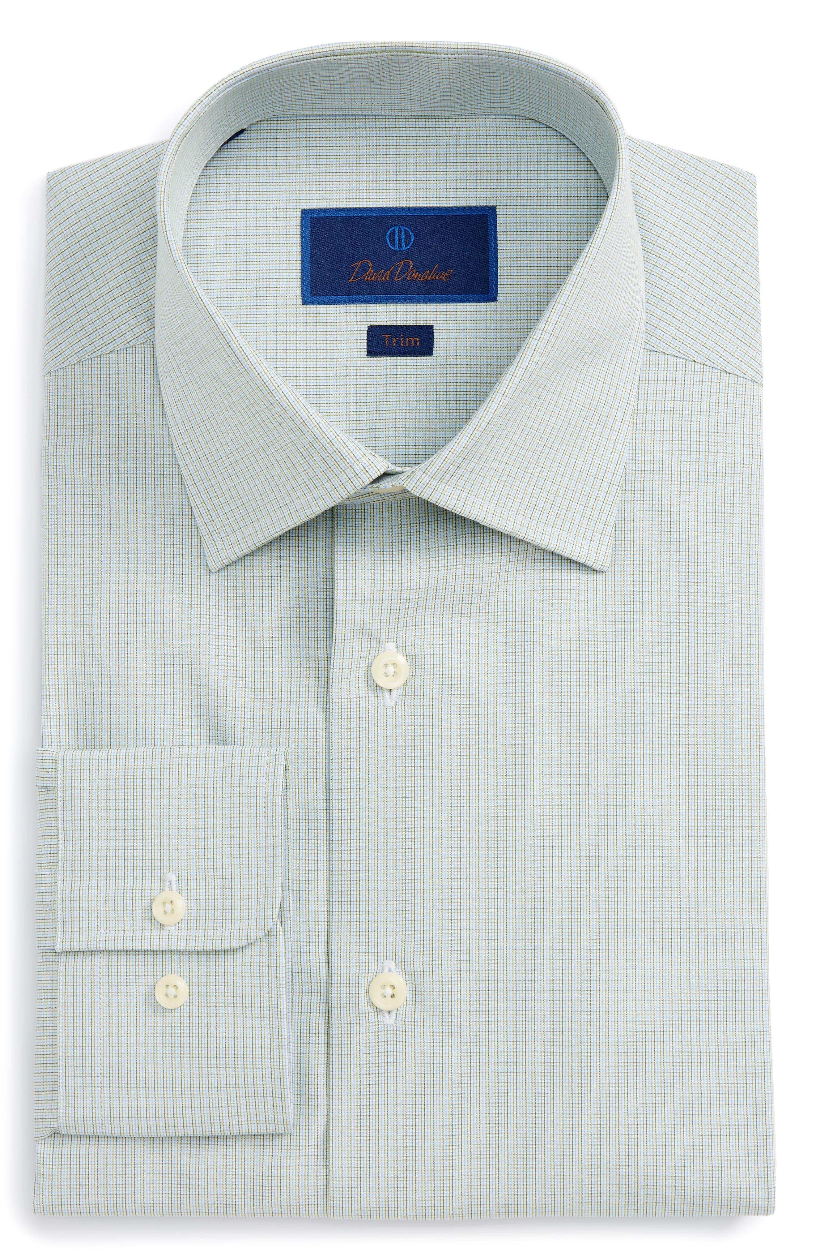 Trim Fit Check Dress Shirt,                         Main,                         color, 314