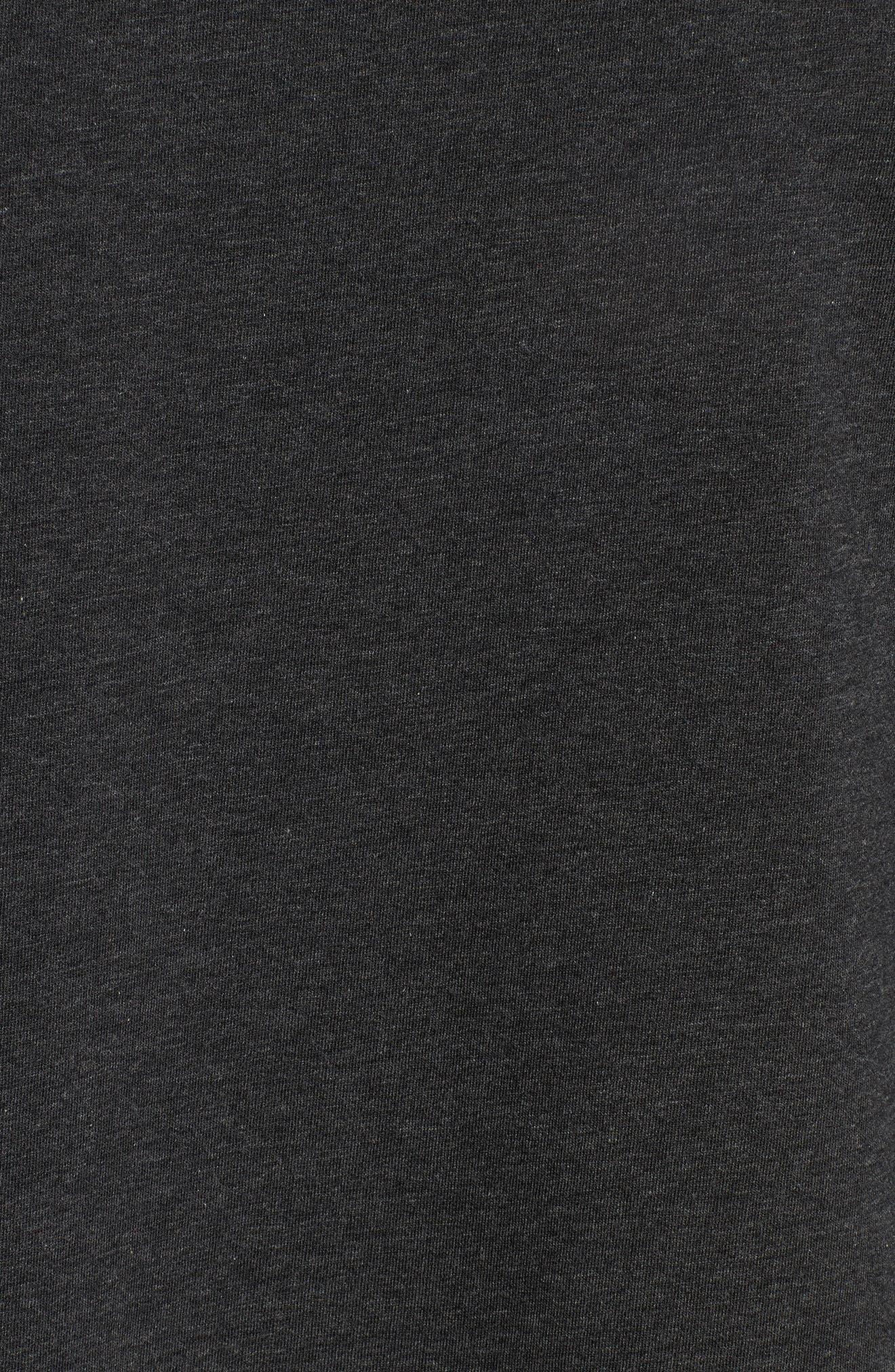 Cotton Blend Crewneck T-Shirt,                             Alternate thumbnail 5, color,                             HEATHER CHARCOAL