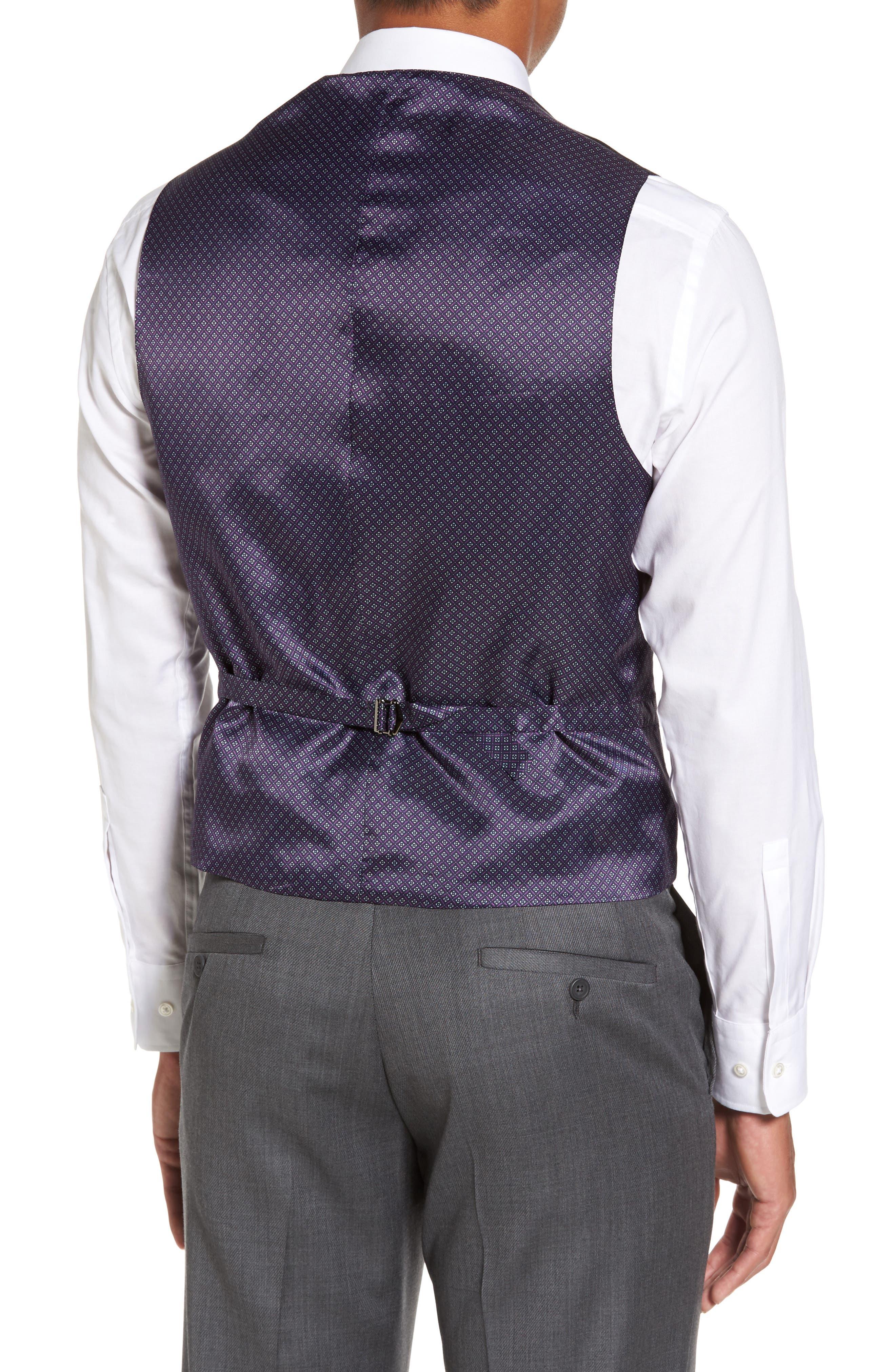 Troy Trim Fit Solid Wool Vest,                             Alternate thumbnail 2, color,                             502