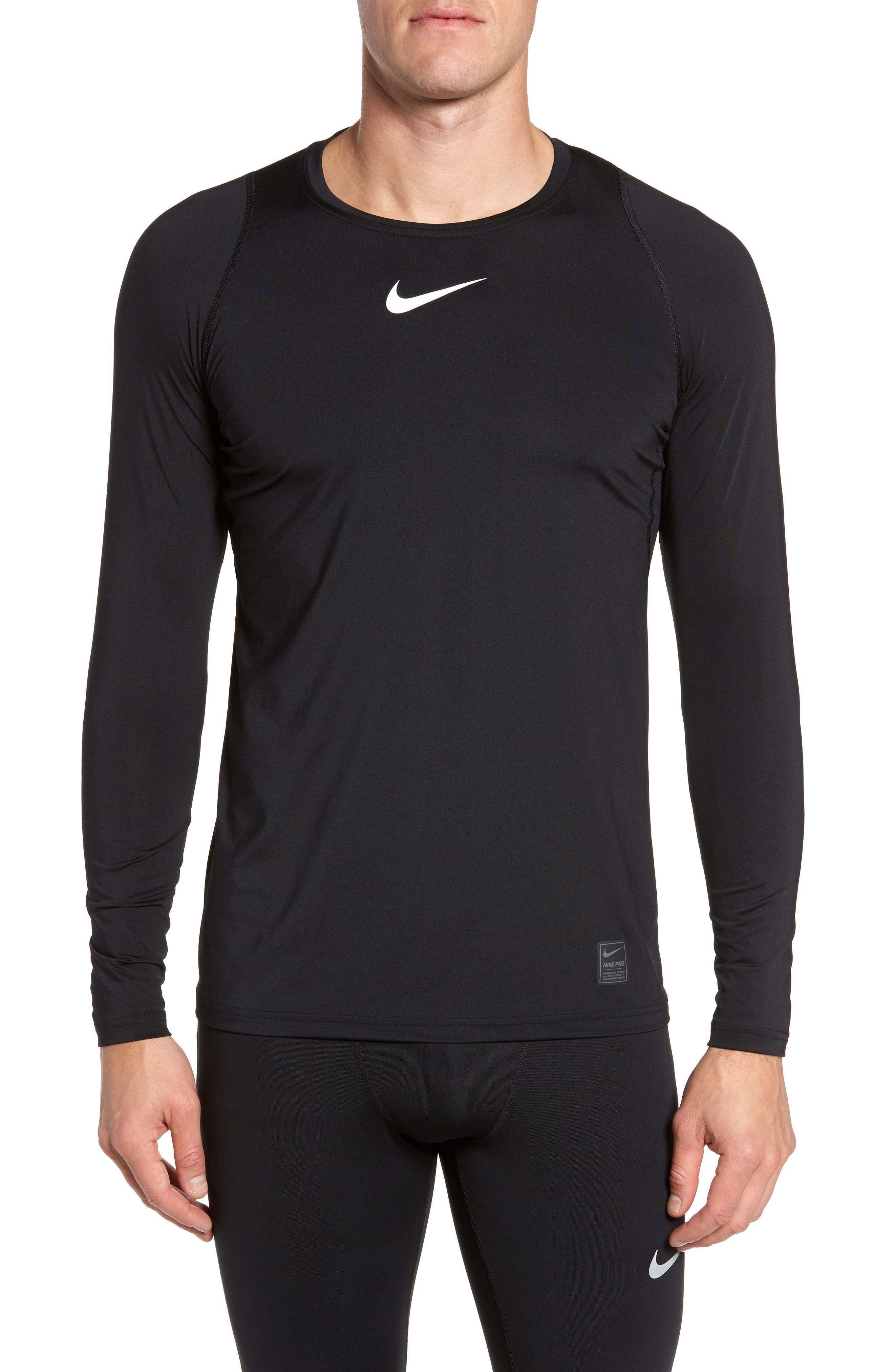 Pro Fitted Performance T-Shirt,                             Main thumbnail 1, color,                             BLACK/ WHITE/ WHITE