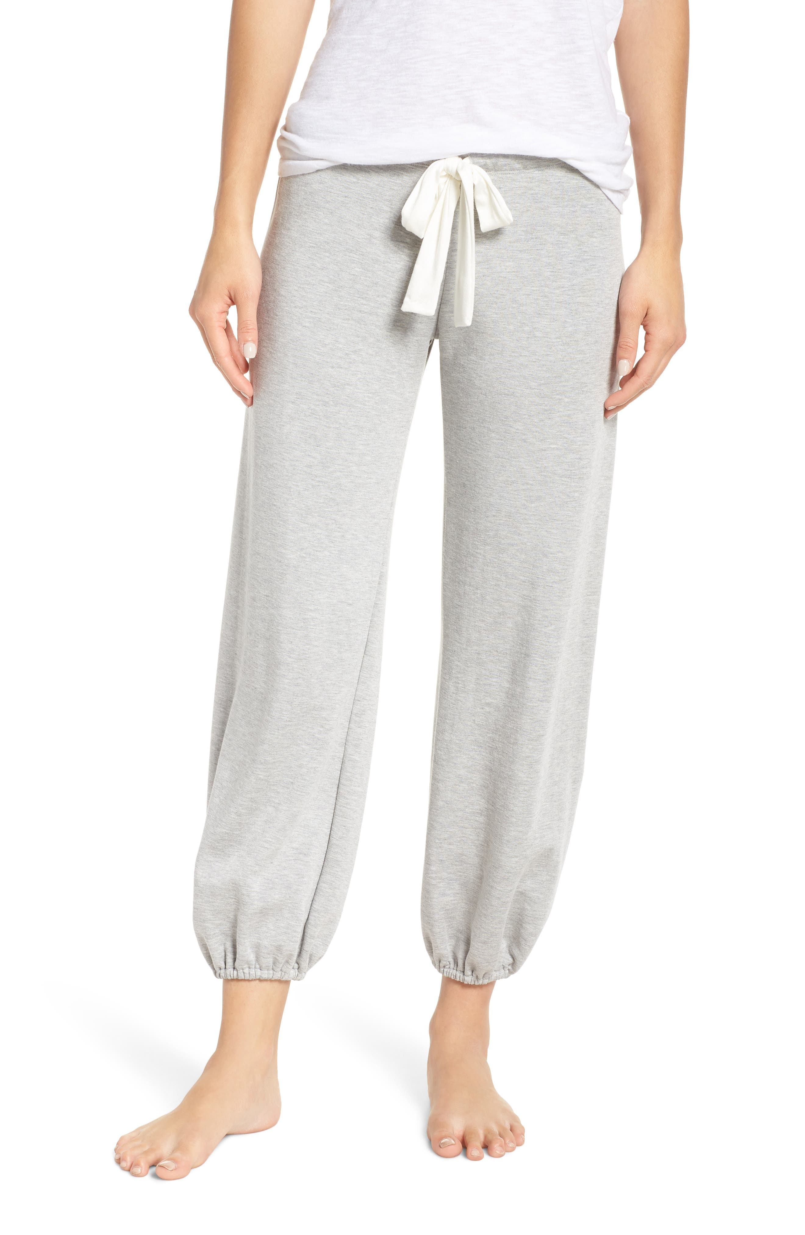 Winter Heather Cropped Pants in Heather Grey