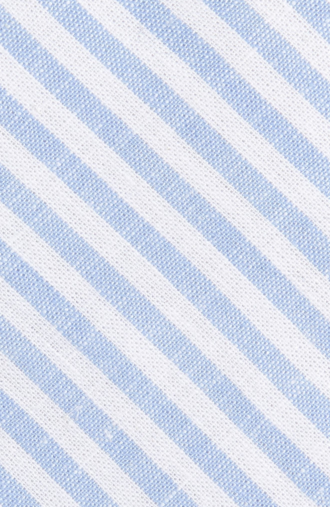 Telary Stripe Cotton Skinny Tie,                             Alternate thumbnail 4, color,