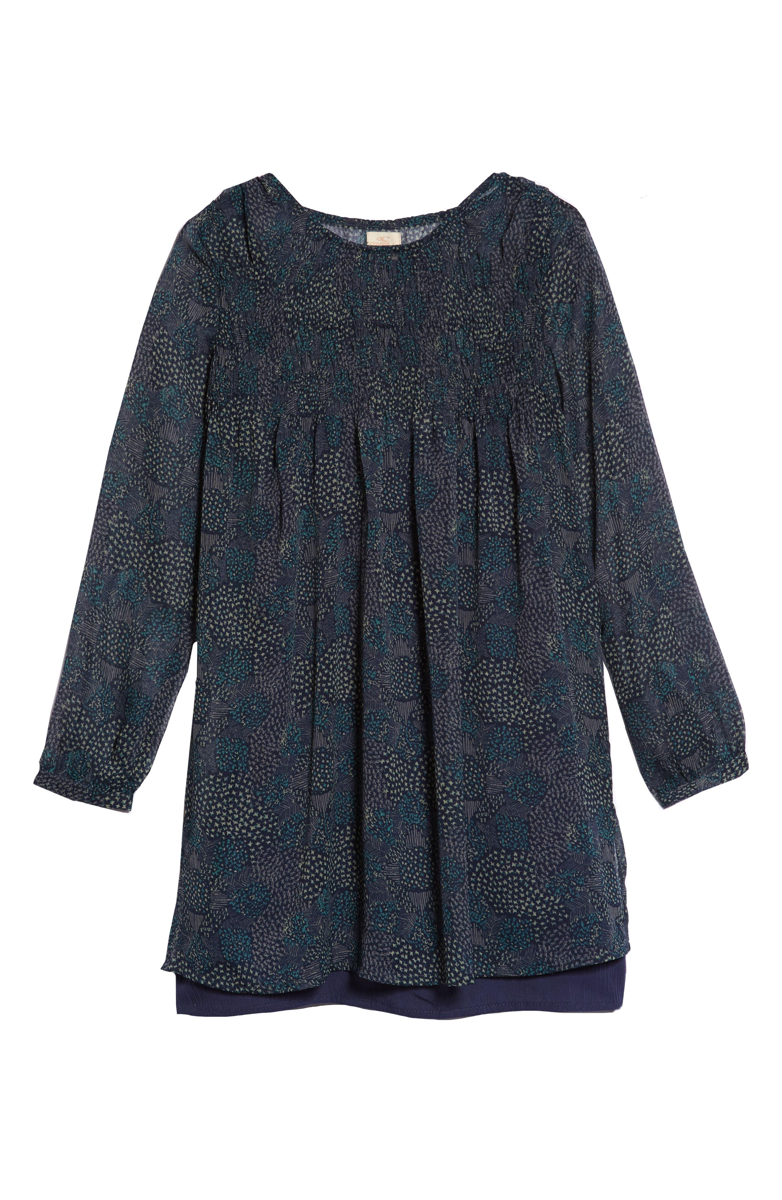 Summer Layered Dress,                             Main thumbnail 1, color,                             MOOD INDIGO