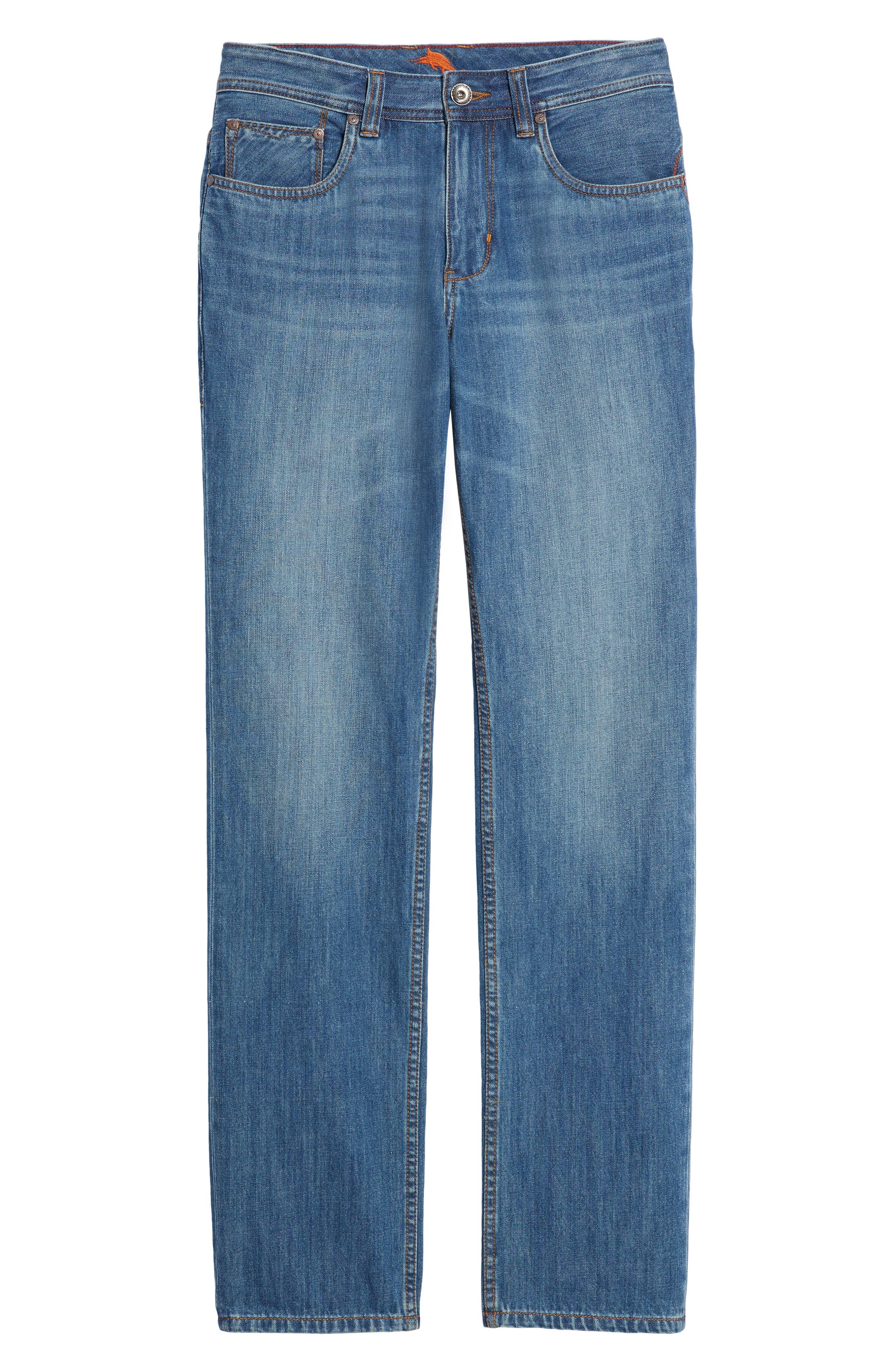Bardabos Straight Leg Jeans,                             Alternate thumbnail 6, color,                             400