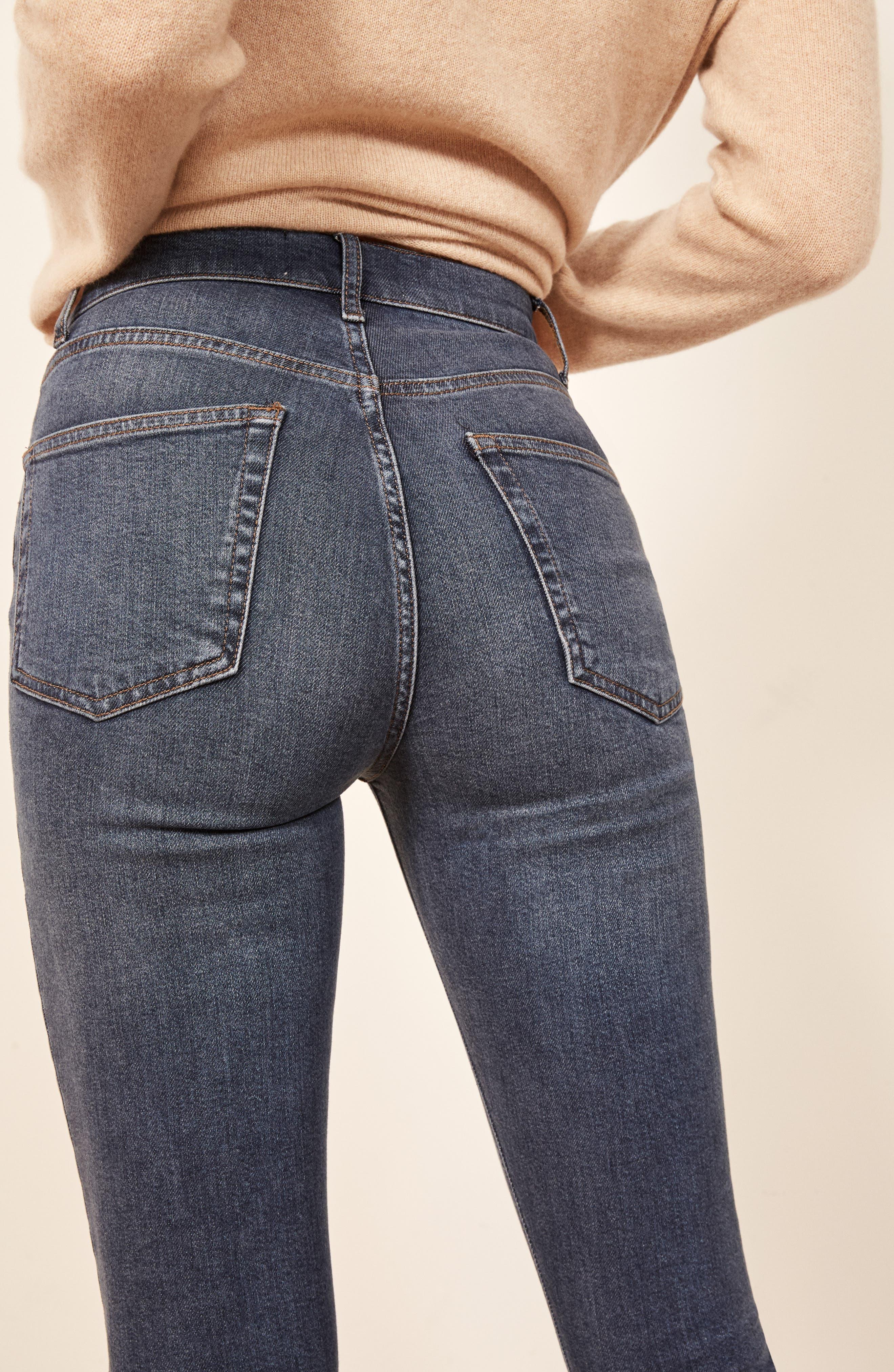 High & Skinny Jeans,                             Alternate thumbnail 3, color,                             HAVANA