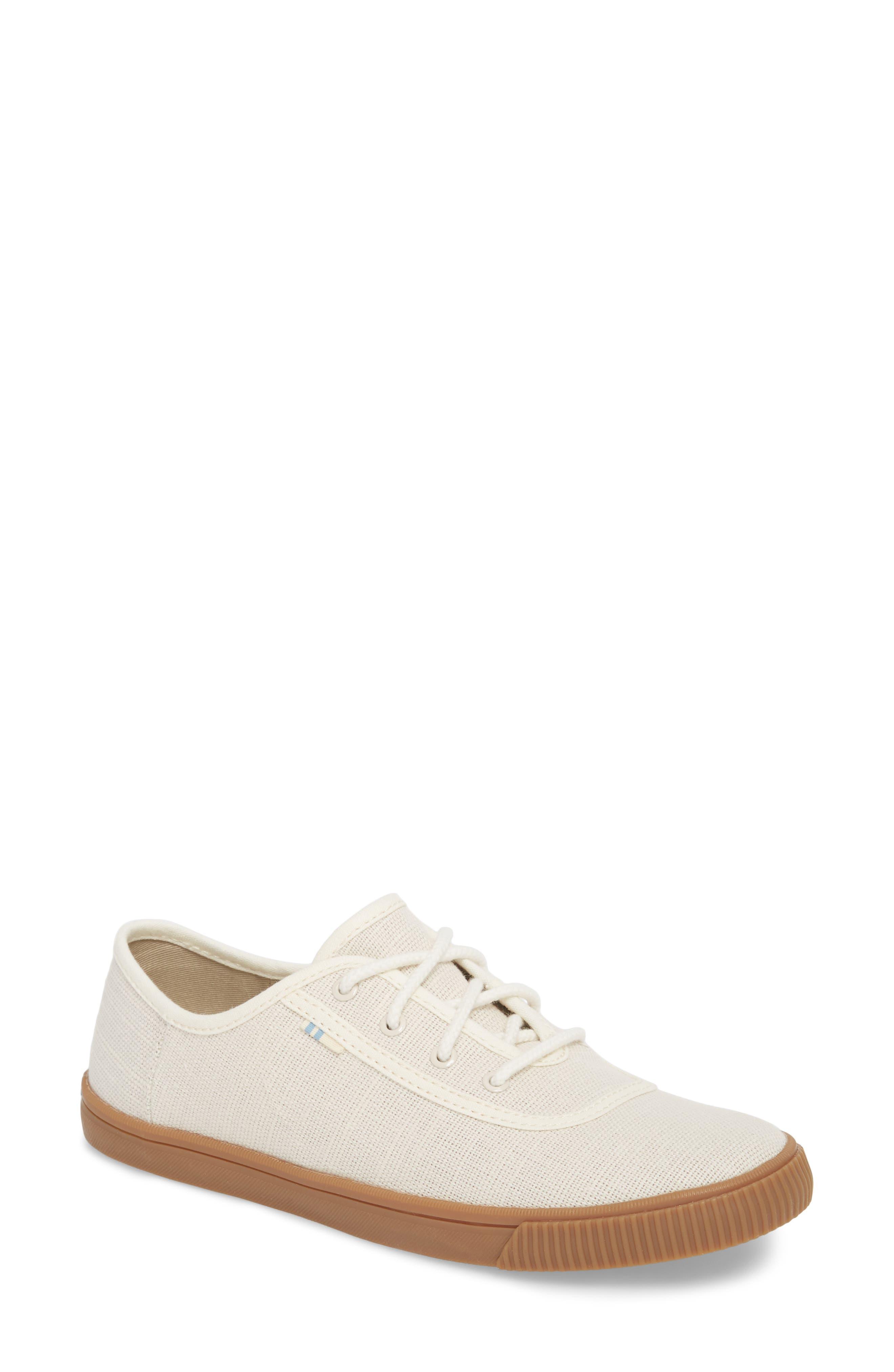 Carmel Sneaker,                         Main,                         color, BIRCH HERITAGE CANVAS