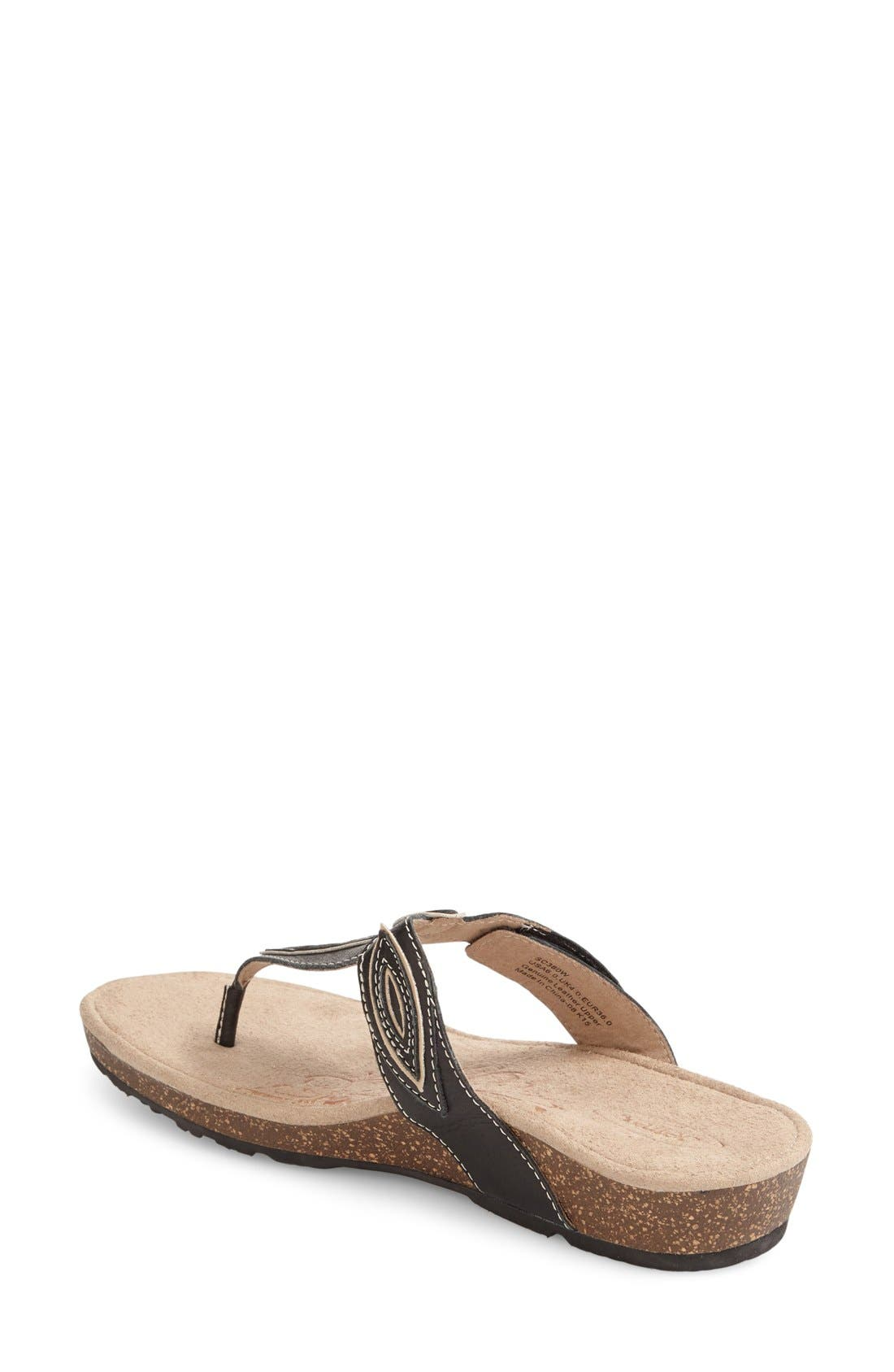 'Terri' Flip Flop,                             Alternate thumbnail 4, color,                             001