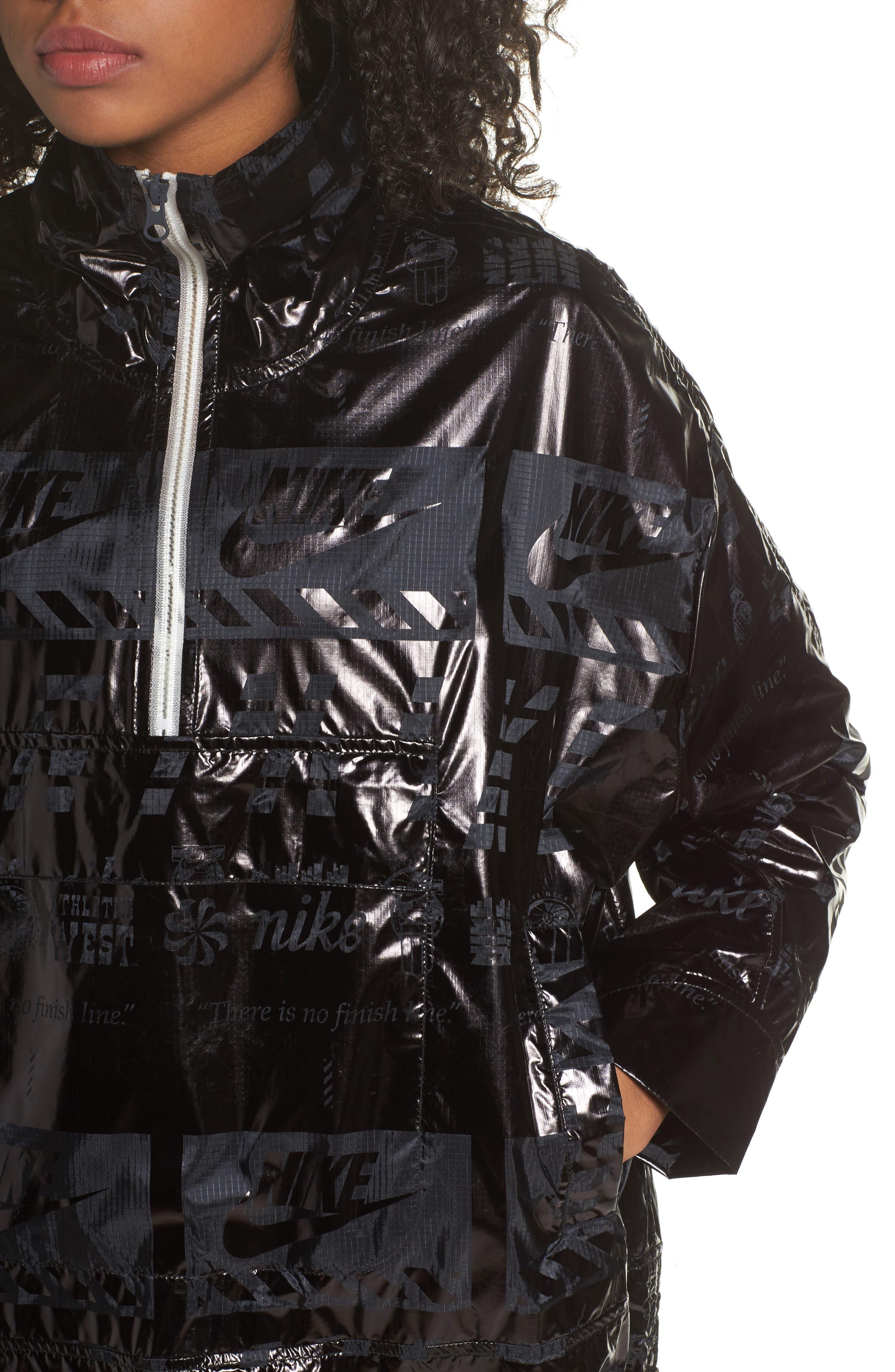Sportswear Metallic Half Zip Jacket,                             Alternate thumbnail 10, color,