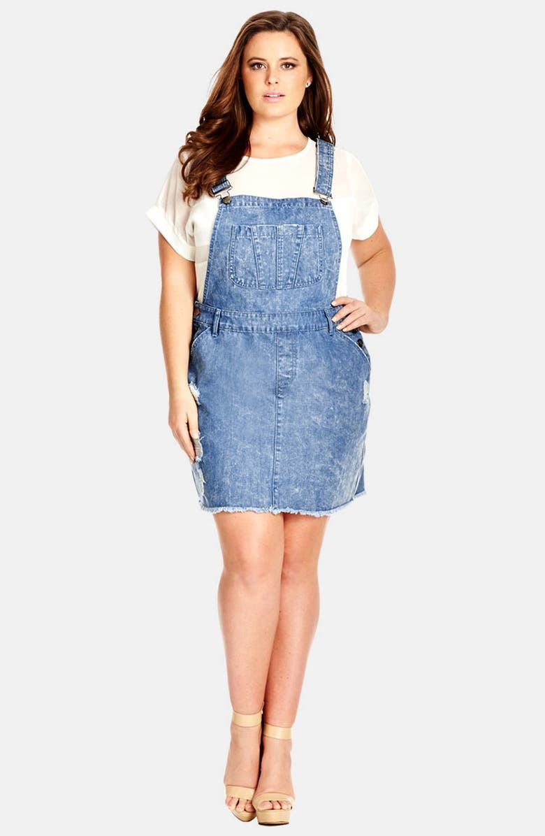 dd284adc5f4 City Chic Denim Overall Dress (Plus Size)