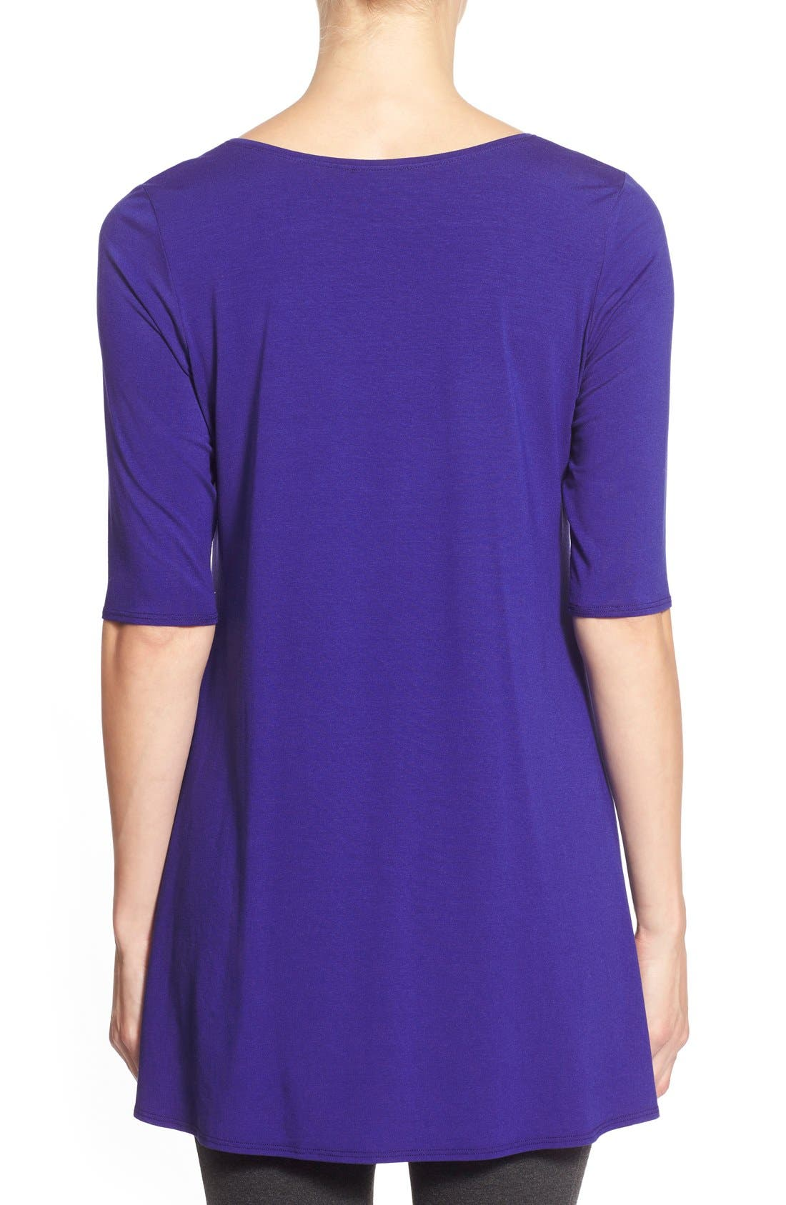 Scoop Neck Elbow Sleeve Jersey Tunic,                             Alternate thumbnail 39, color,