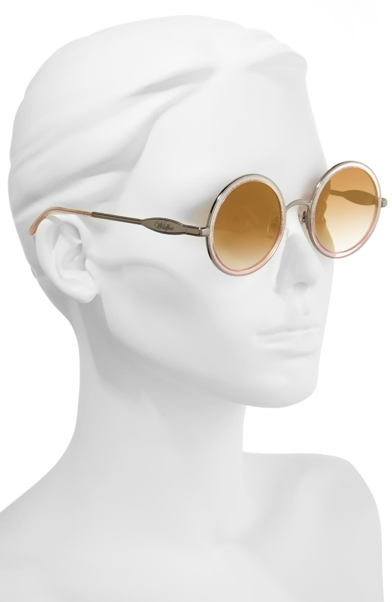 Ryder Zero 49mm Flat Round Sunglasses,                             Alternate thumbnail 2, color,                             GLITZ