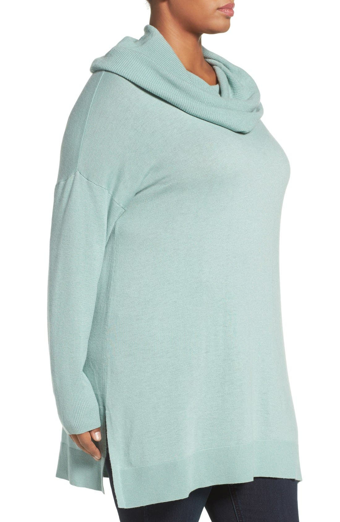 Cowl Neck Tunic Sweater,                             Alternate thumbnail 25, color,