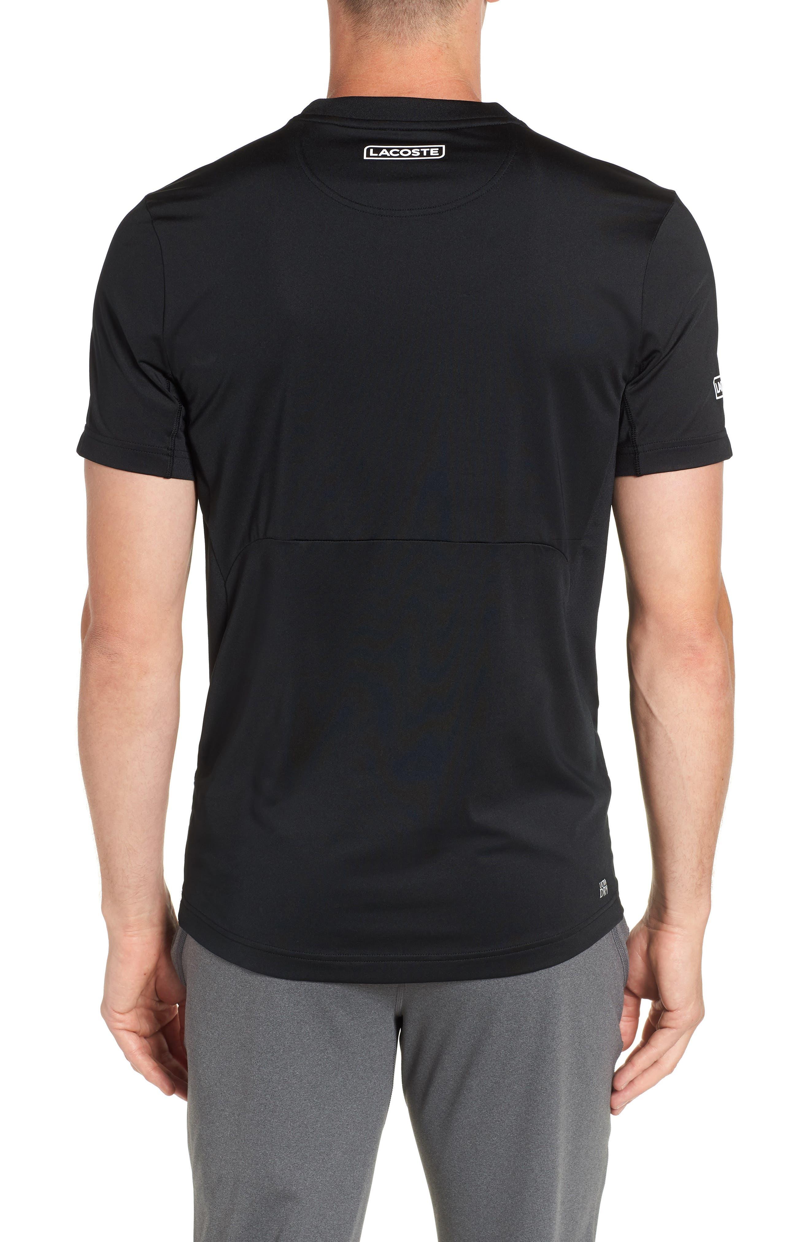 Regular Fit Novak Performance T-Shirt,                             Alternate thumbnail 2, color,                             BLACK/ WHITE