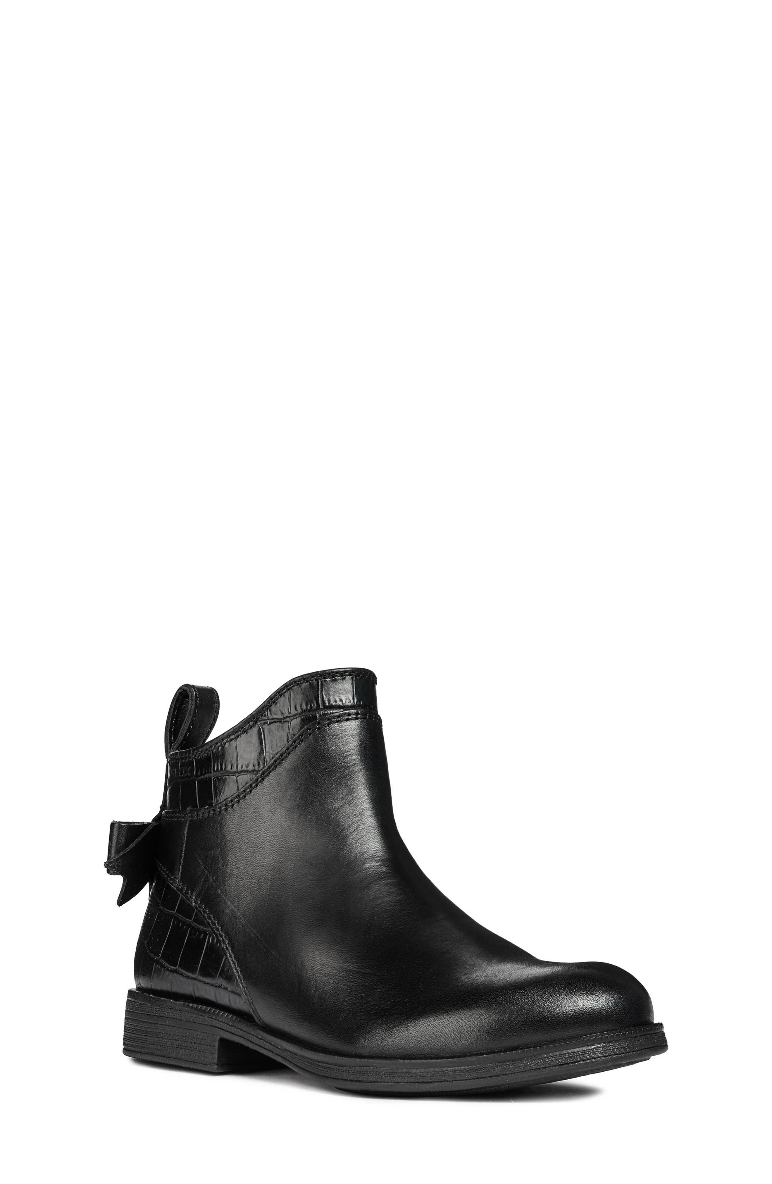 Agata Ankle Boot,                         Main,                         color, BLACK