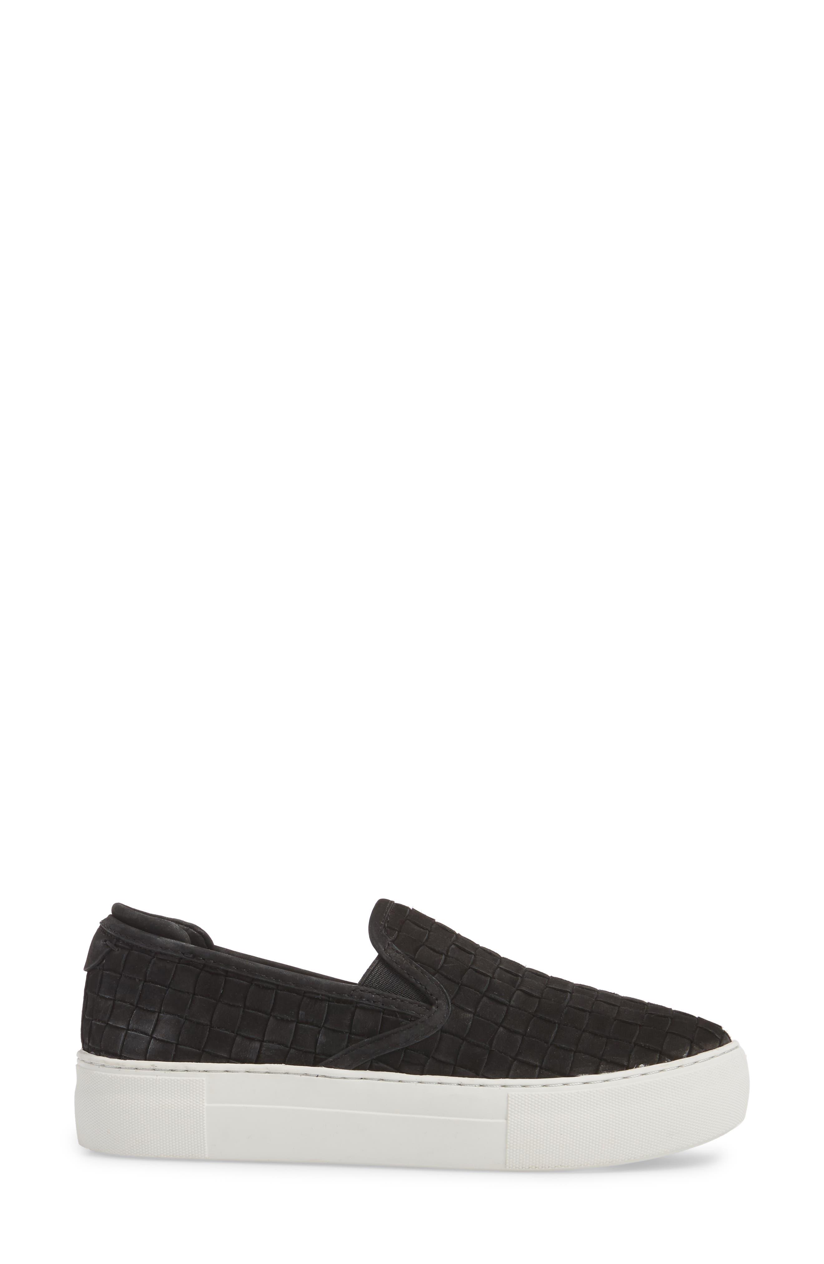 Proper Slip-On Sneaker,                             Alternate thumbnail 3, color,                             BLACK NUBUCK