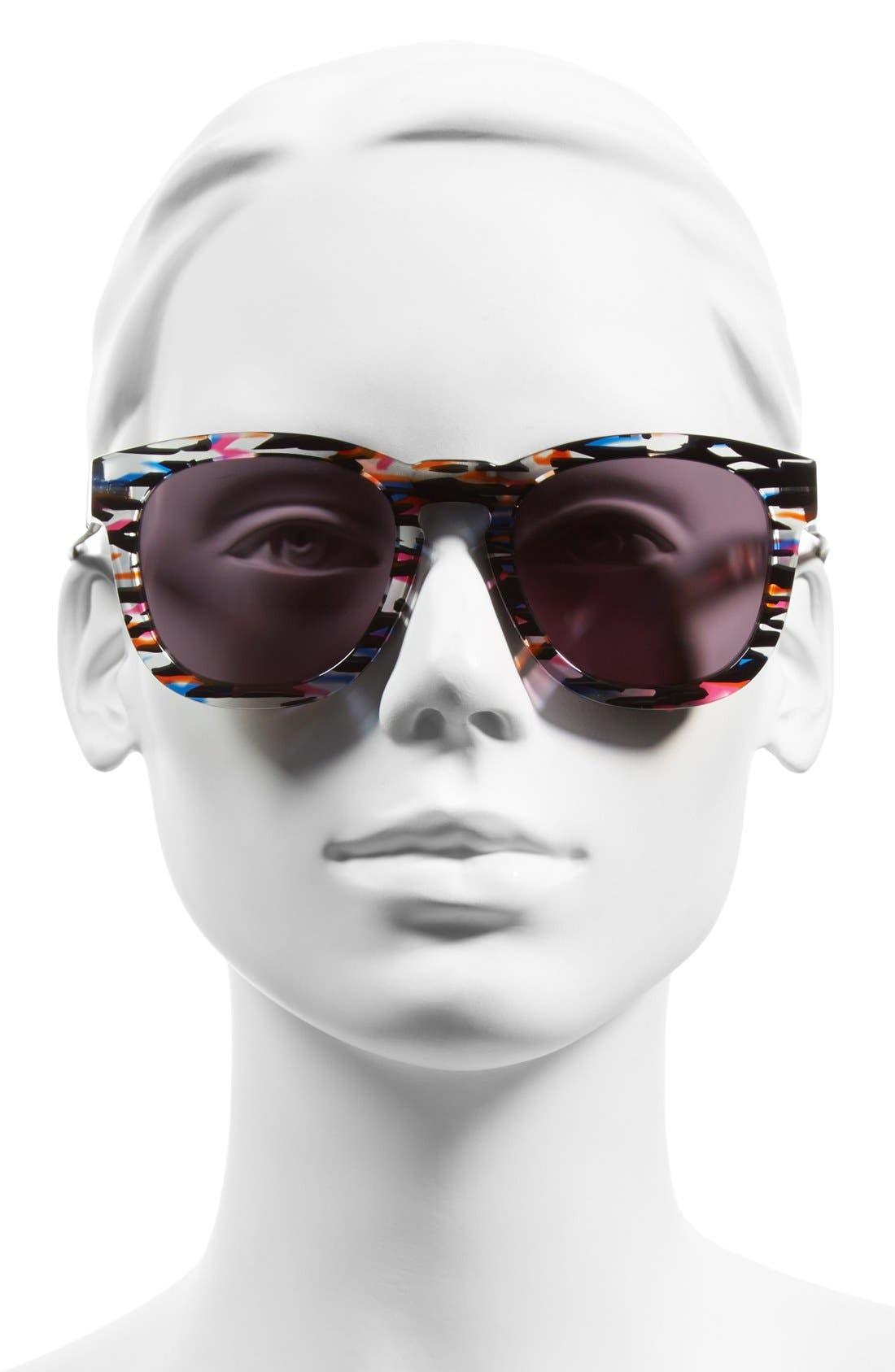 'Classic Fox' 50mm Retro Sunglasses,                             Alternate thumbnail 28, color,