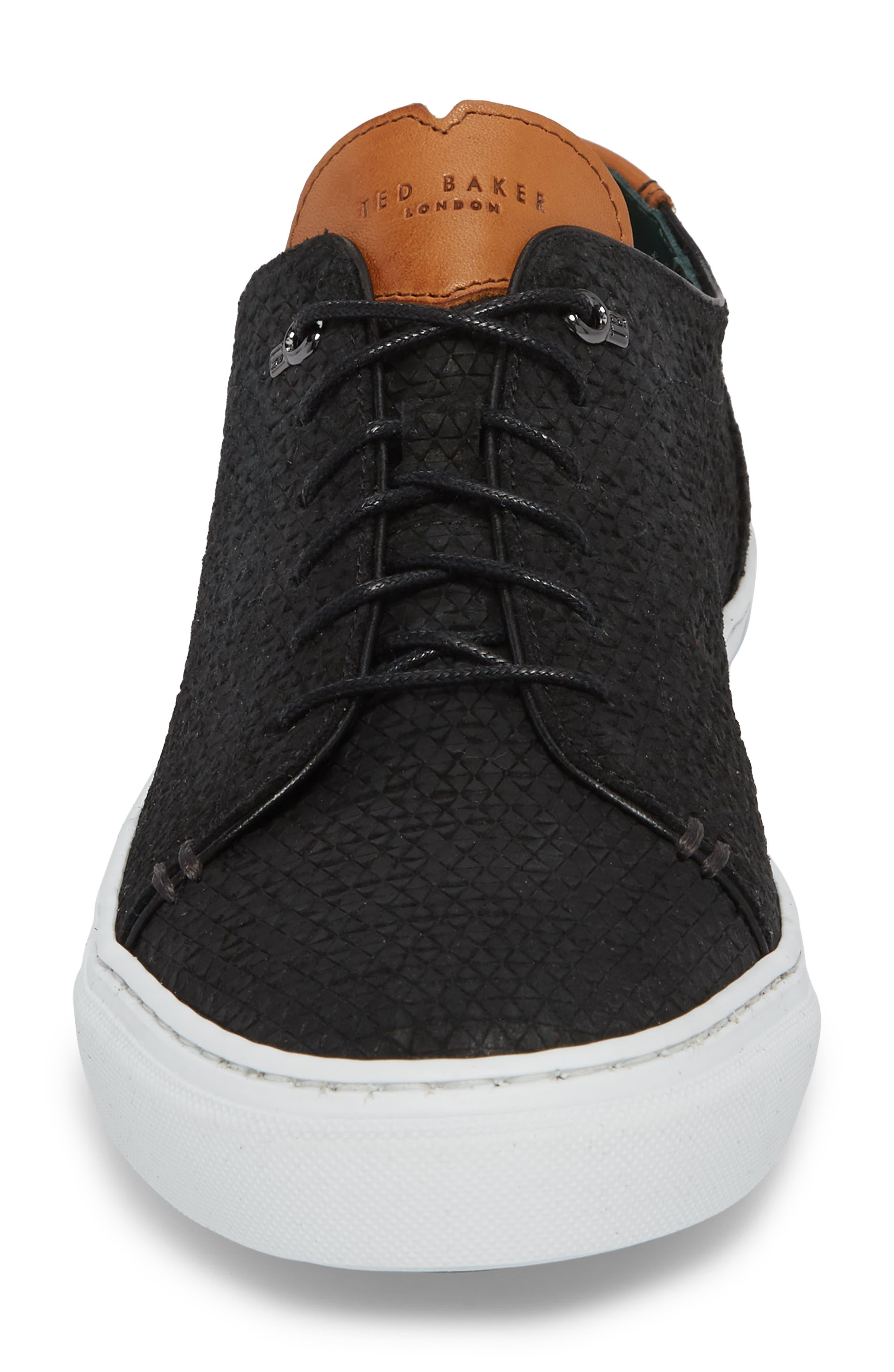 TED BAKER LONDON,                             Duukes Embossed Low Top Sneaker,                             Alternate thumbnail 4, color,                             010