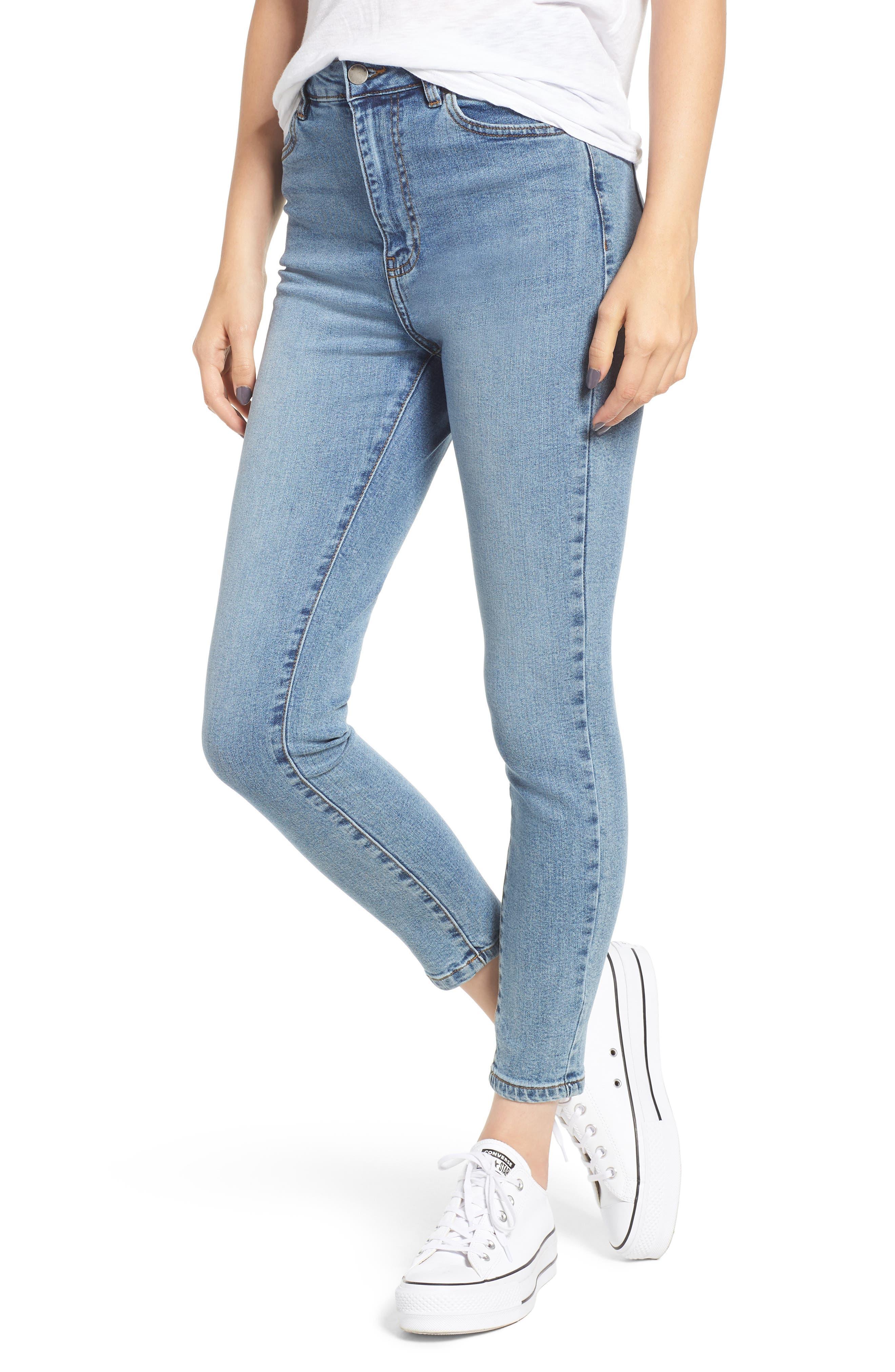 DR. DENIM SUPPLY CO.,                             Copacabana Crop Skinny Jeans,                             Main thumbnail 1, color,                             400