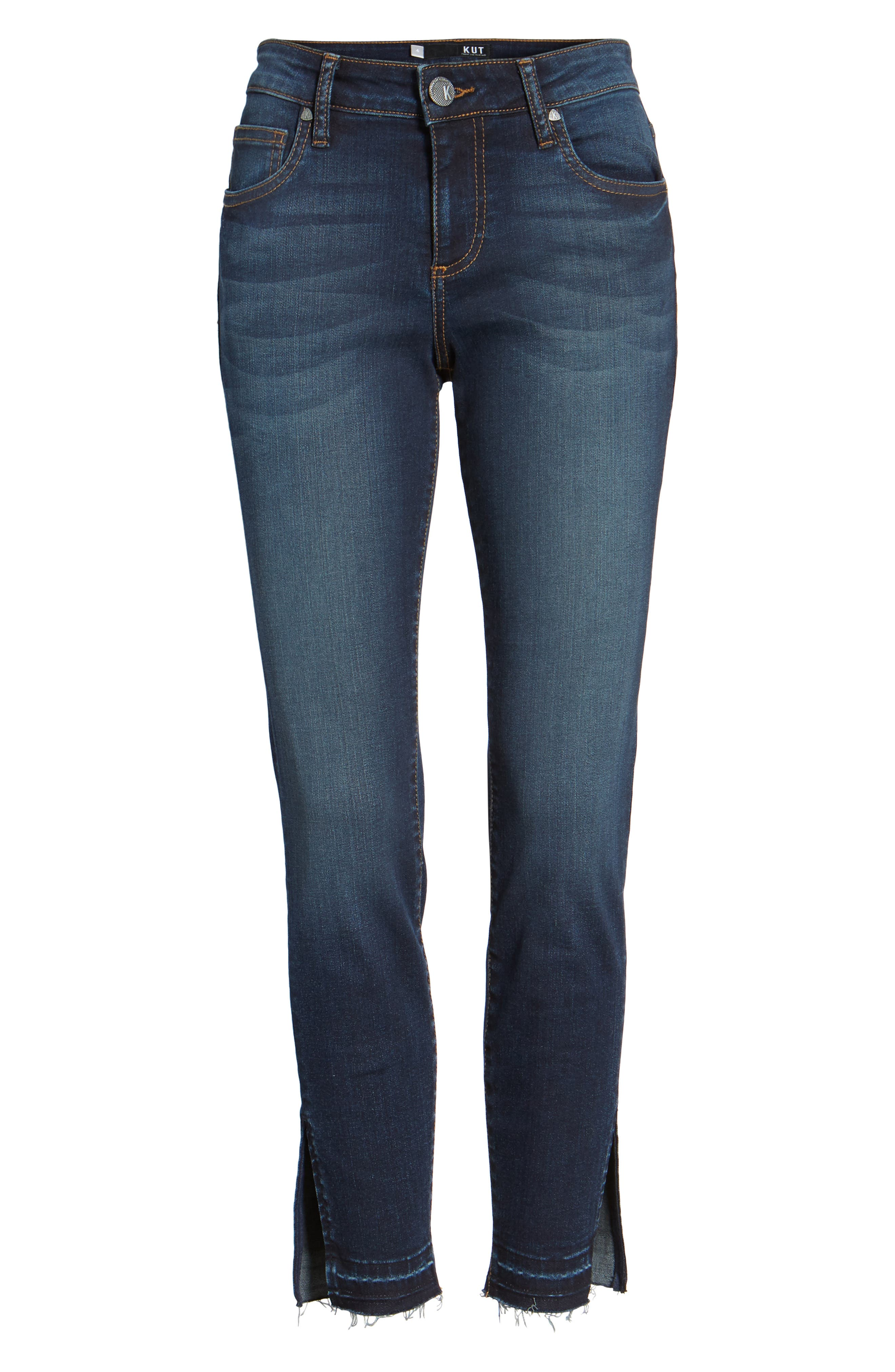 Connie Release Hem Ankle Skinny Jeans,                             Alternate thumbnail 6, color,                             431