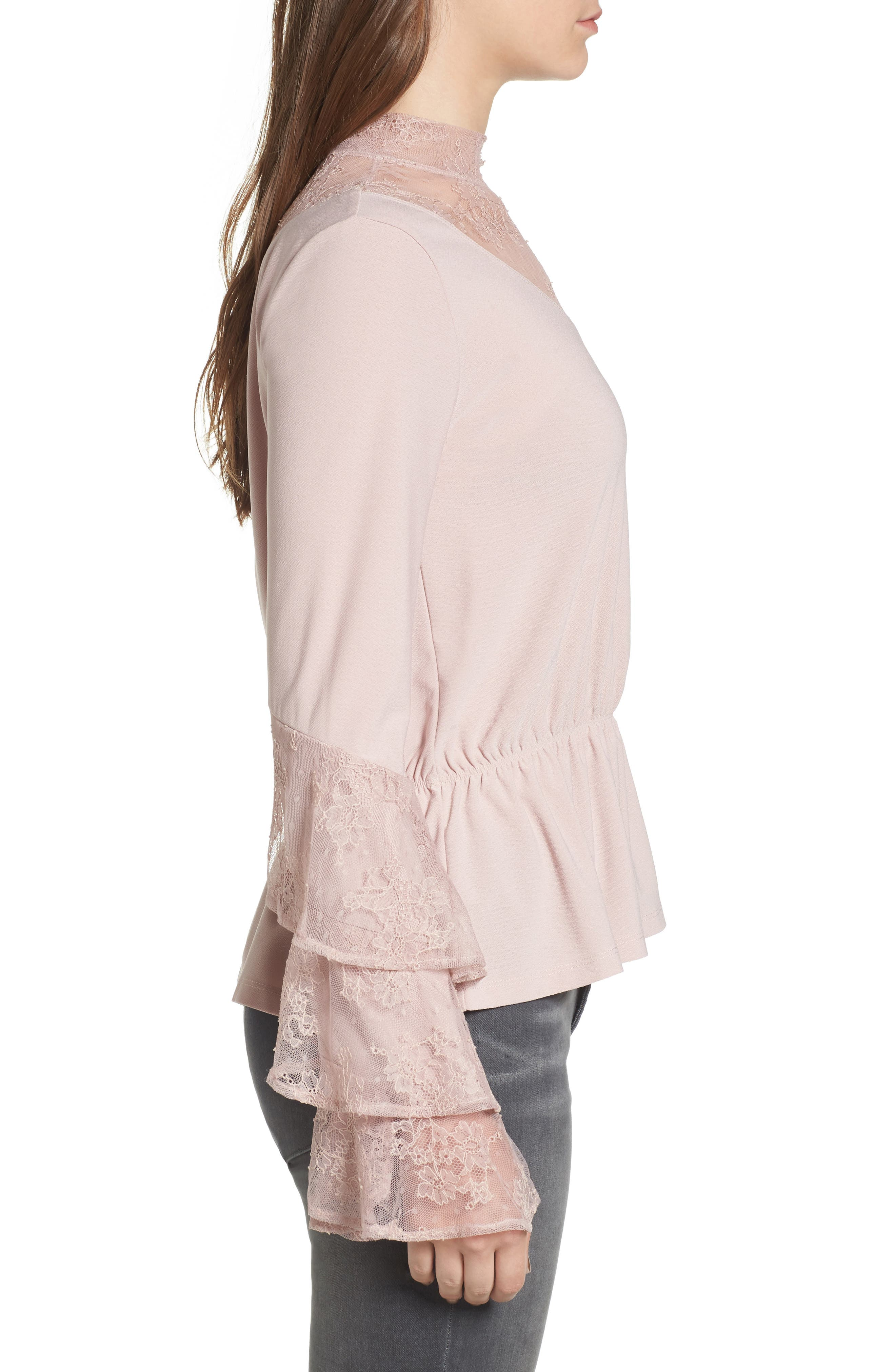 Spiral Lace Top,                             Alternate thumbnail 3, color,                             680