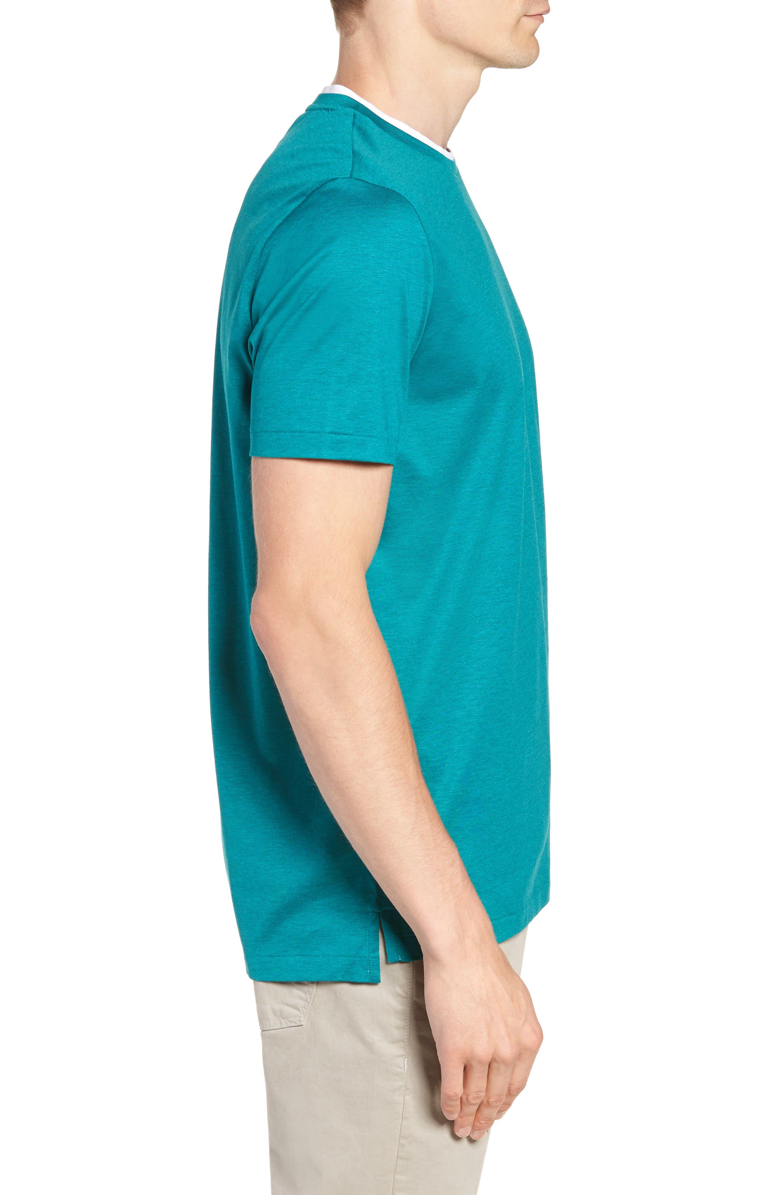 Taber Regular Fit T-Shirt,                             Alternate thumbnail 3, color,                             GREEN