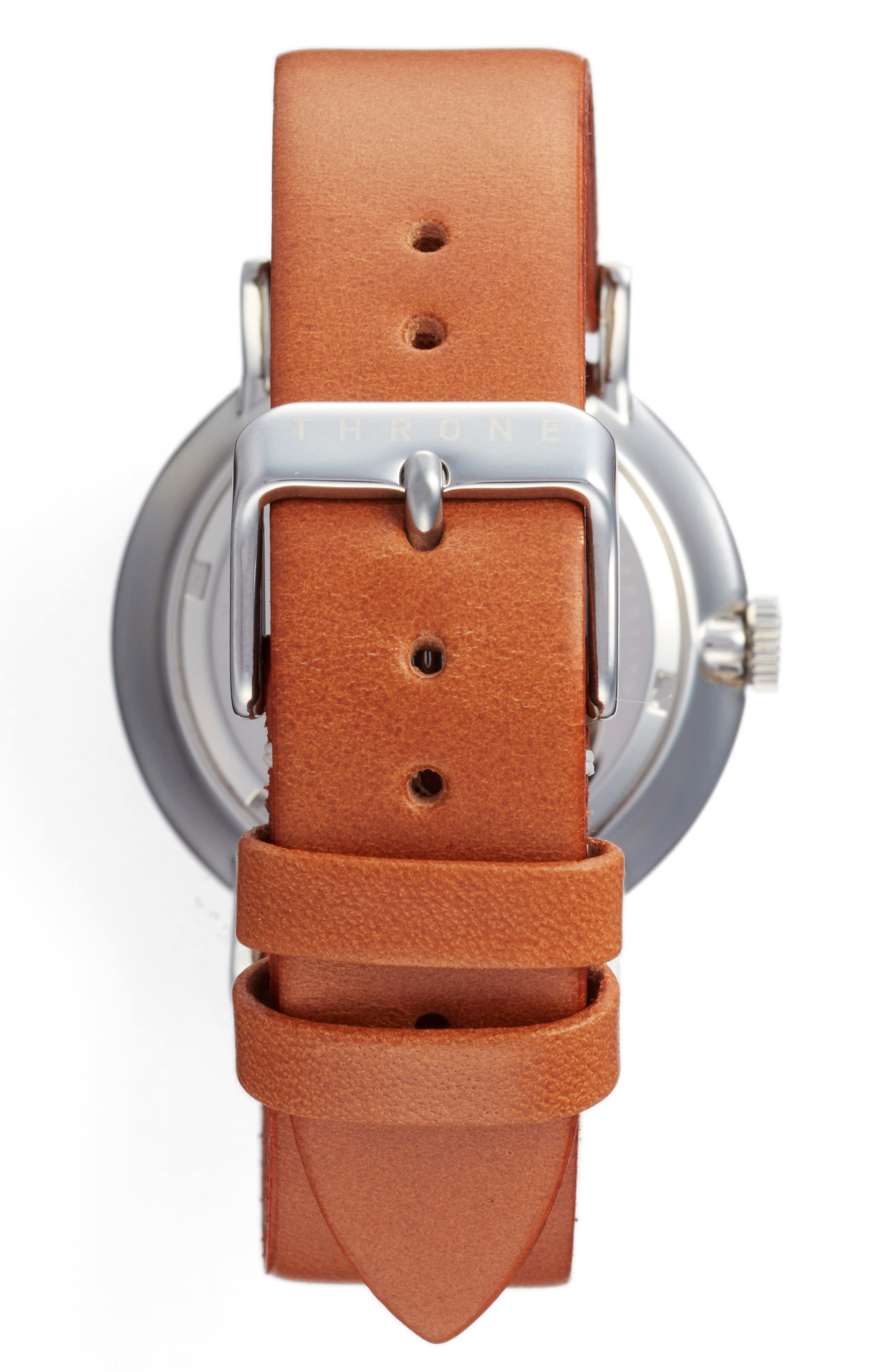 1.0 Leather Strap Watch, 40mm,                             Alternate thumbnail 8, color,