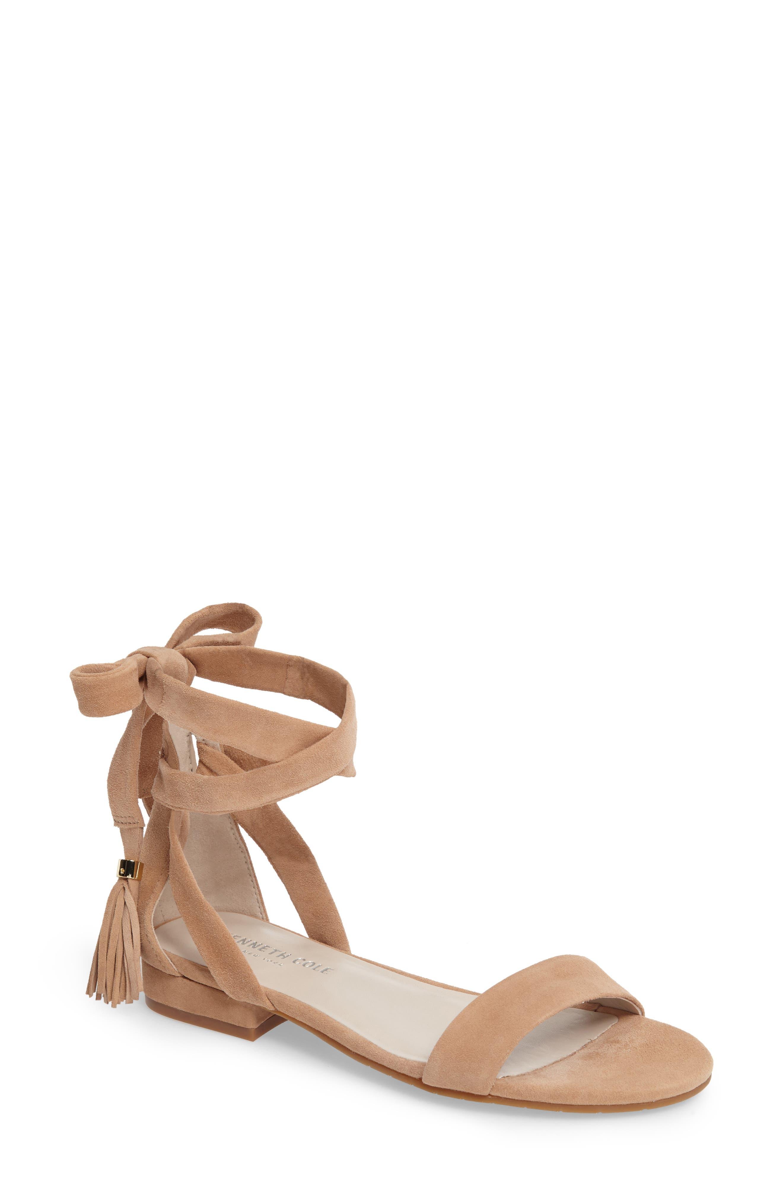 Valen Tassel Lace-Up Sandal,                             Main thumbnail 6, color,