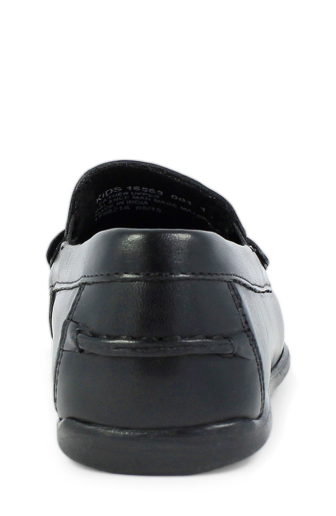 'Jasper - Driver Jr.' Loafer,                             Alternate thumbnail 6, color,                             BLACK LEATHER