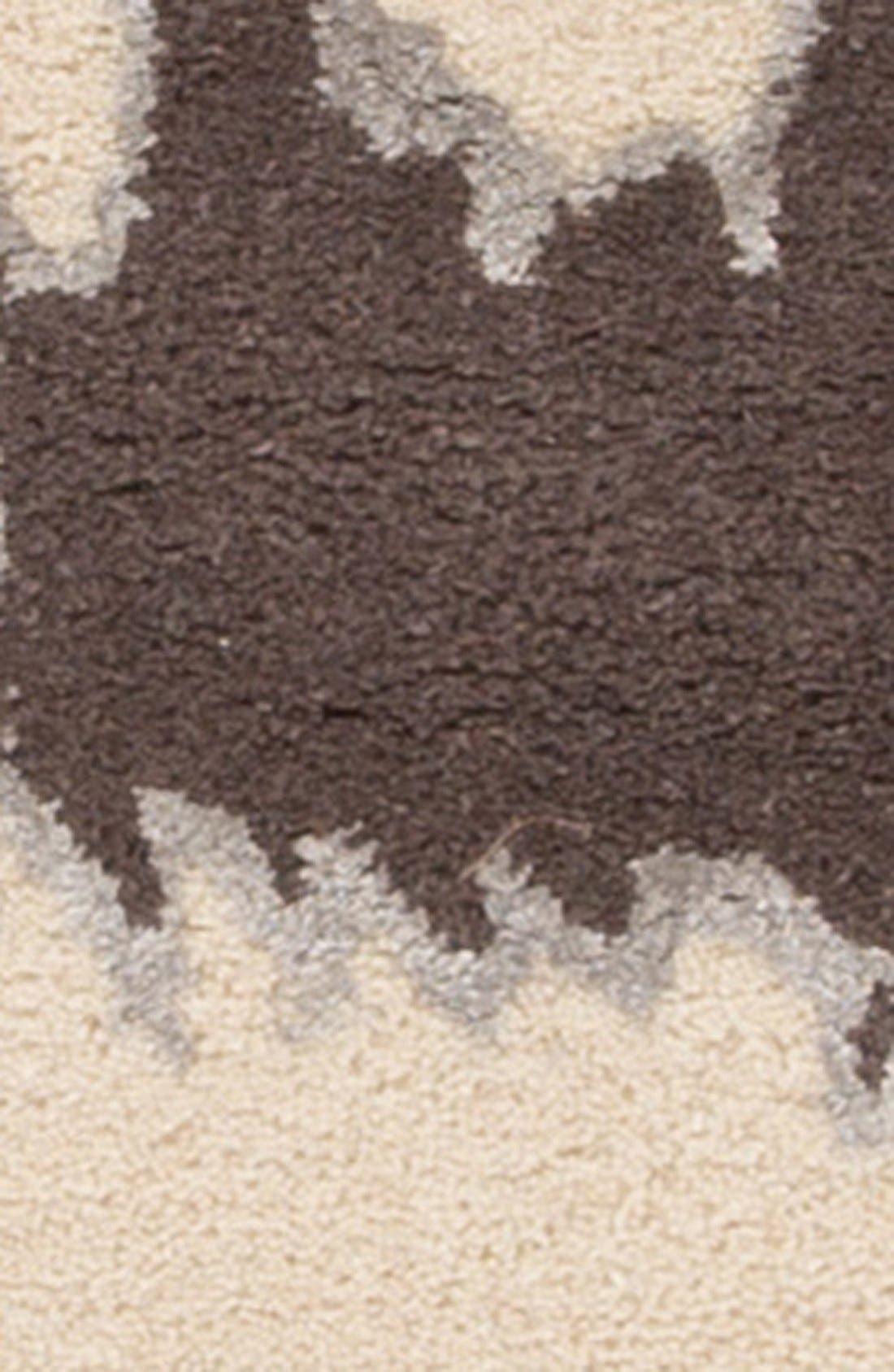 'gramercy - animal print' wool & silk rug,                             Alternate thumbnail 8, color,