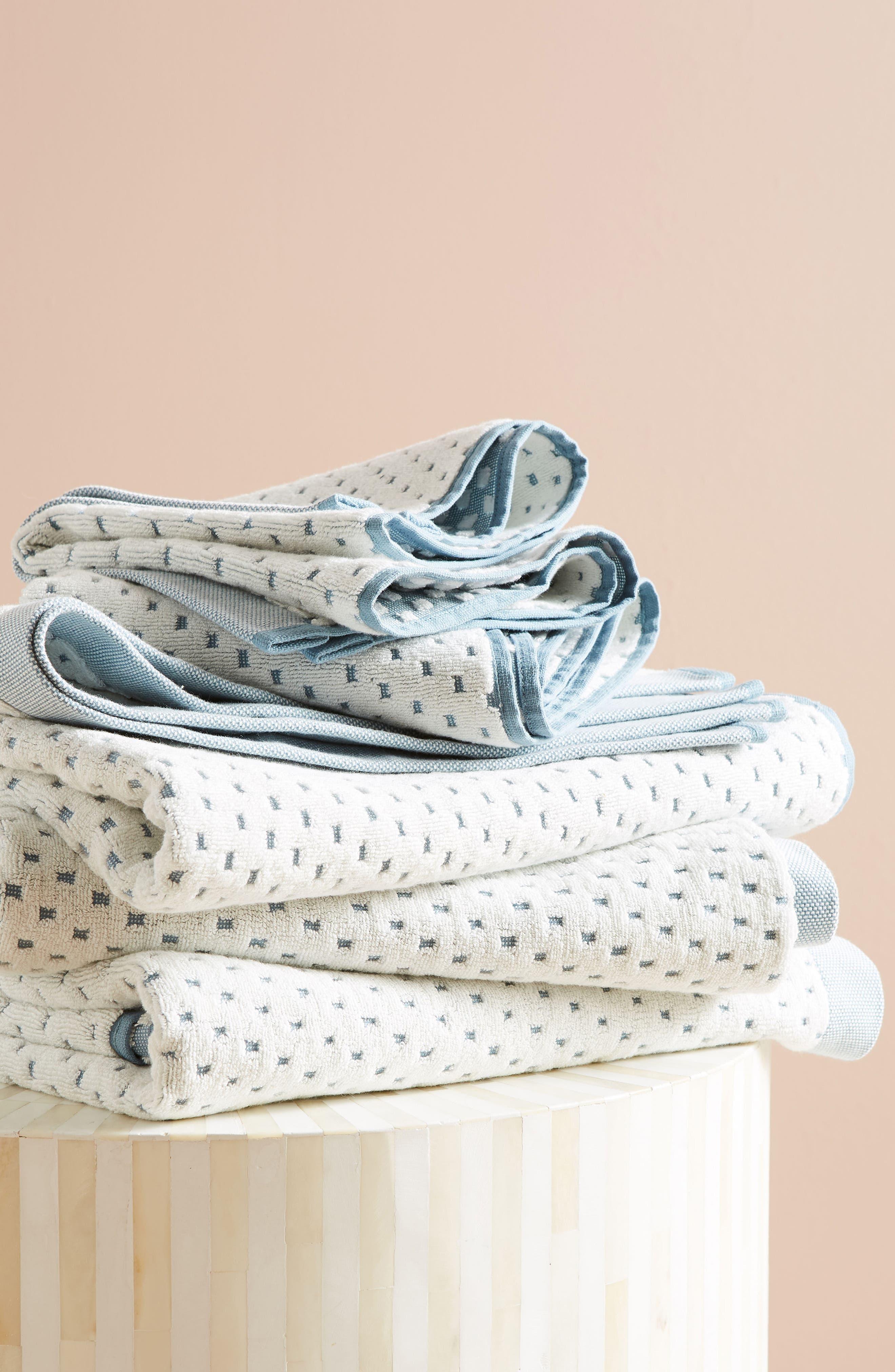 Dot Jacquard Hand Towel,                             Alternate thumbnail 5, color,