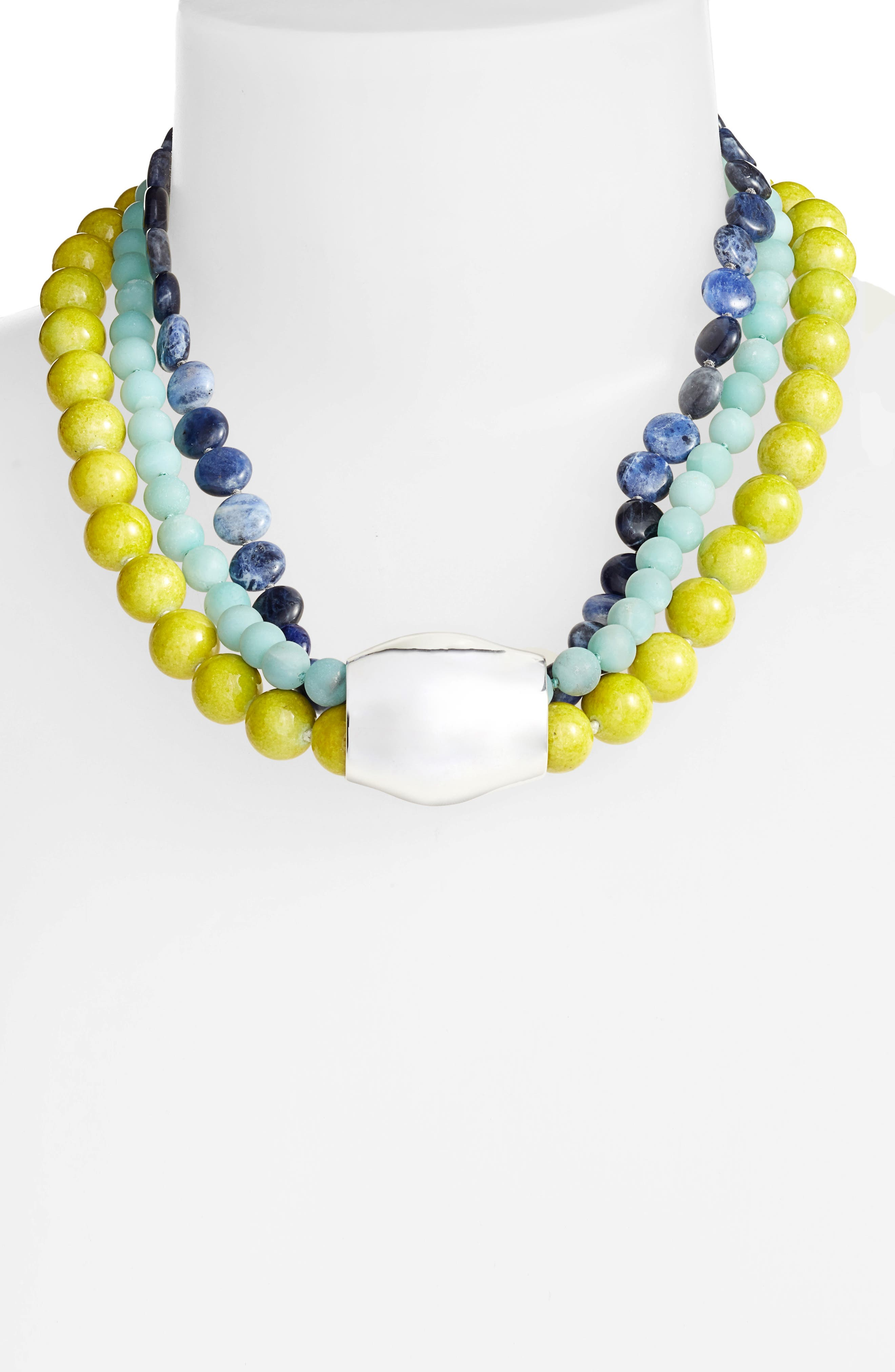 Stone Beaded Necklace,                             Alternate thumbnail 2, color,                             440