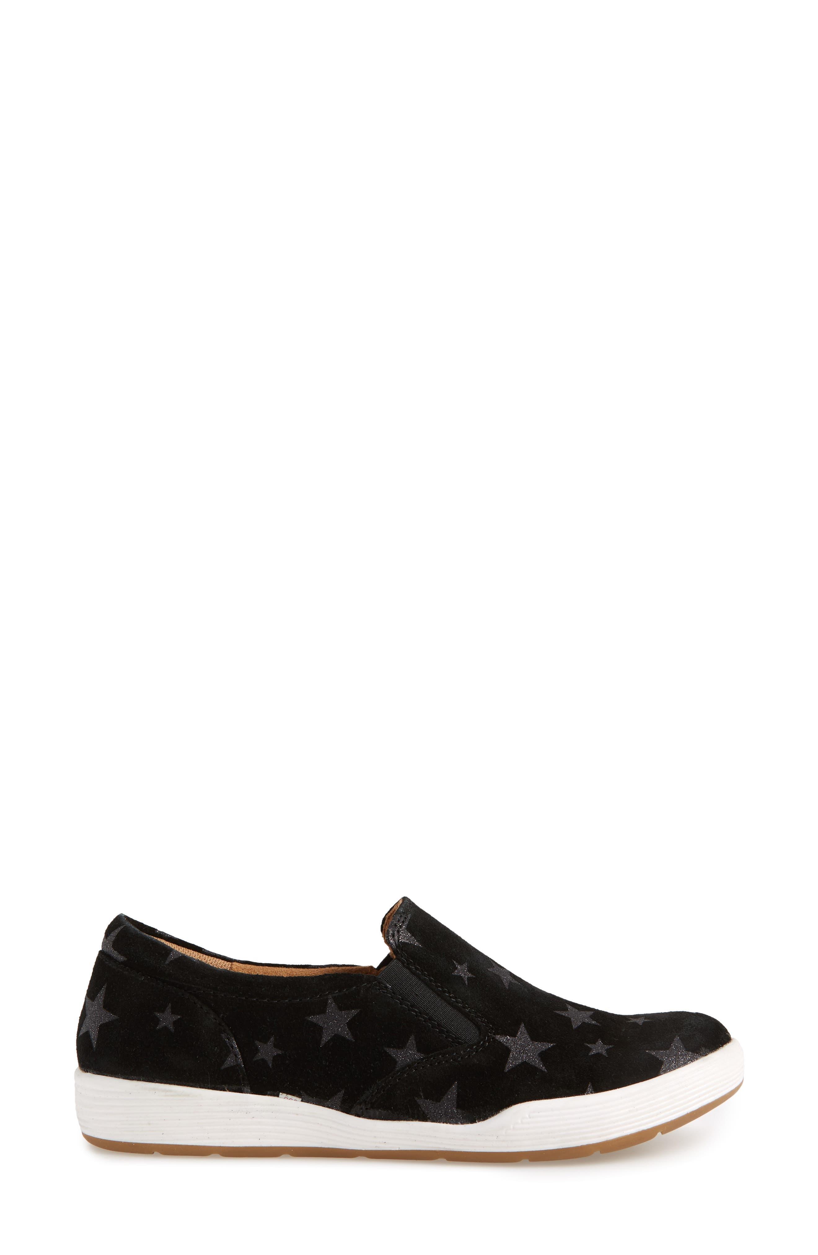 Linette Suede Slip-On Sneaker,                             Alternate thumbnail 3, color,                             BLACK SUEDE