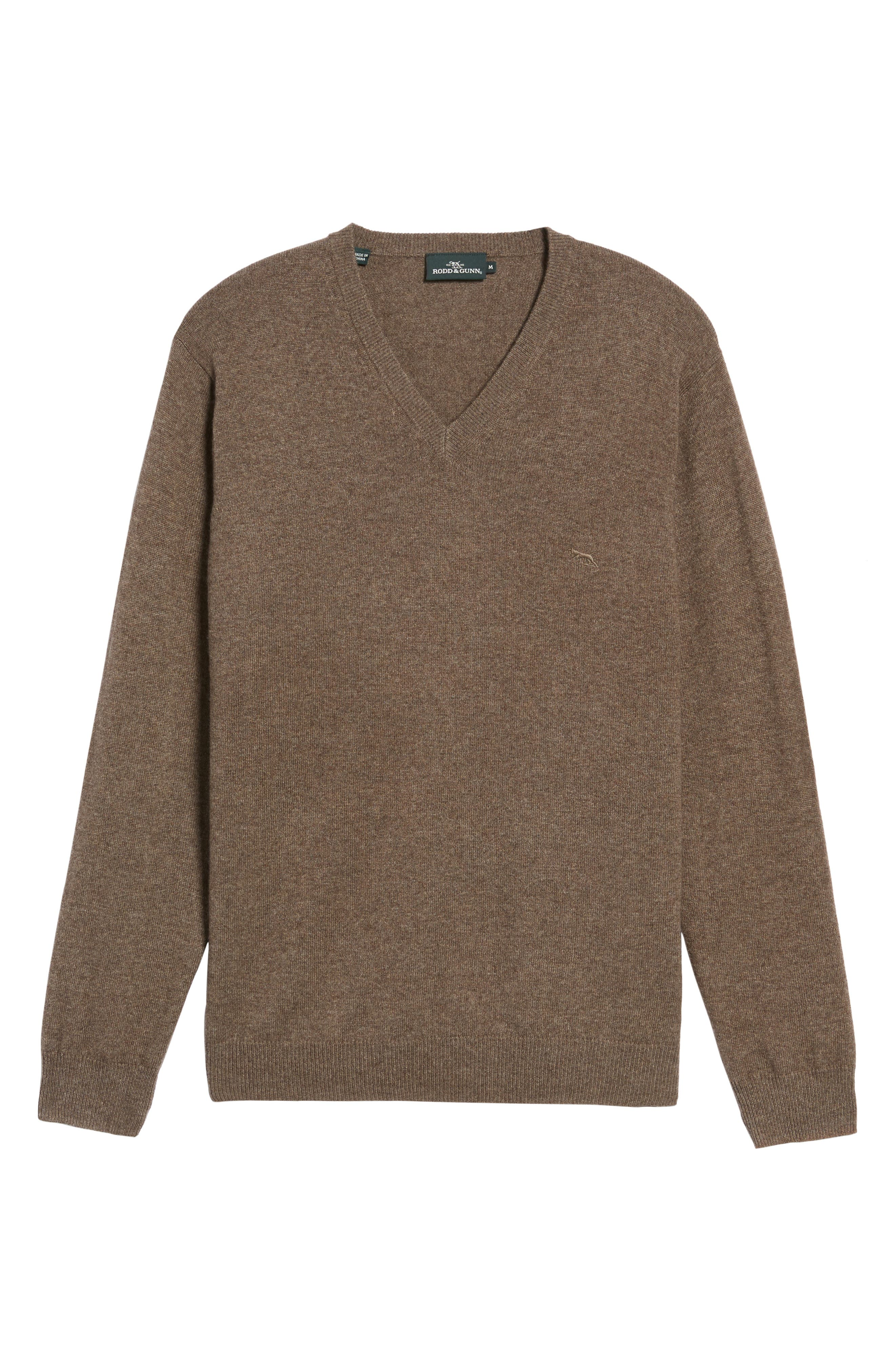 'Inchbonnie' Wool & Cashmere V-Neck Sweater,                             Alternate thumbnail 6, color,                             218