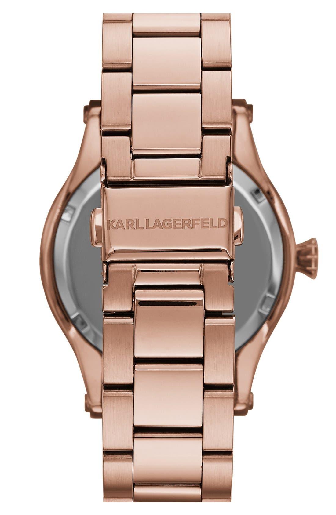 KARL LAGERFELD PARIS,                             KARL LAGERFELD Round Bracelet Watch, 39mm,                             Alternate thumbnail 3, color,                             711