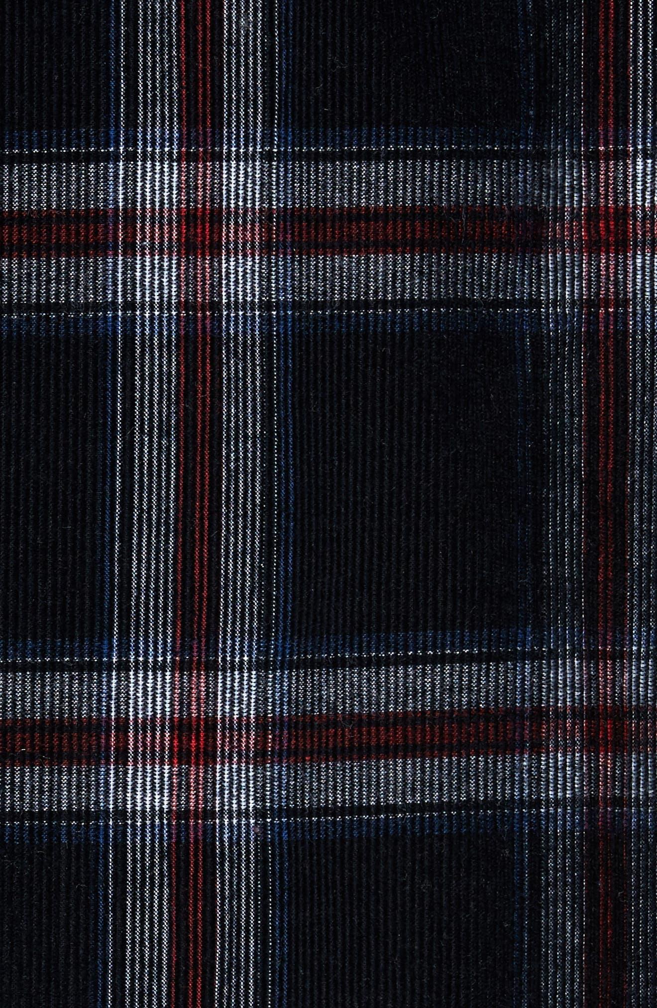 Summit Hunter Plaid Faux Shearling Lined Shirt Jacket,                             Alternate thumbnail 5, color,                             001