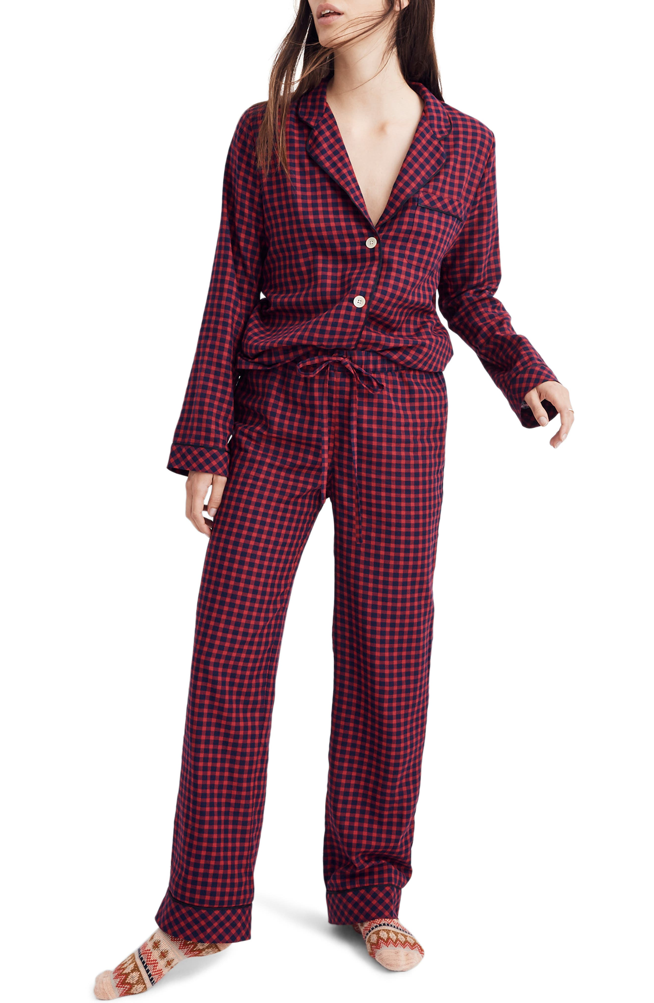 Bedtime Pajama Pants,                         Main,                         color, CRANBERRY