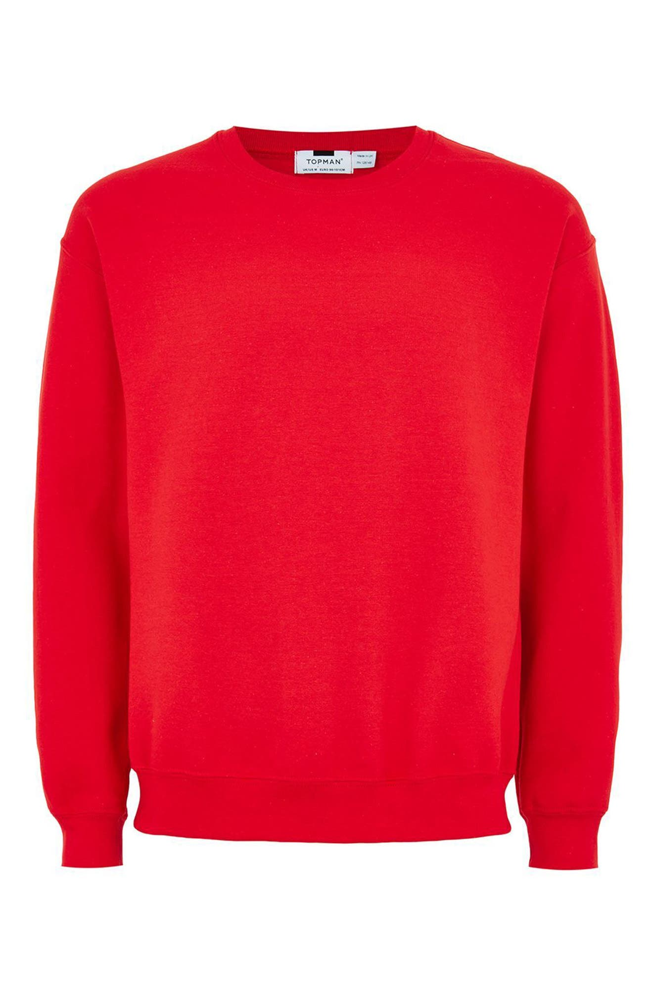 Oversize Crewneck Sweatshirt,                             Alternate thumbnail 4, color,