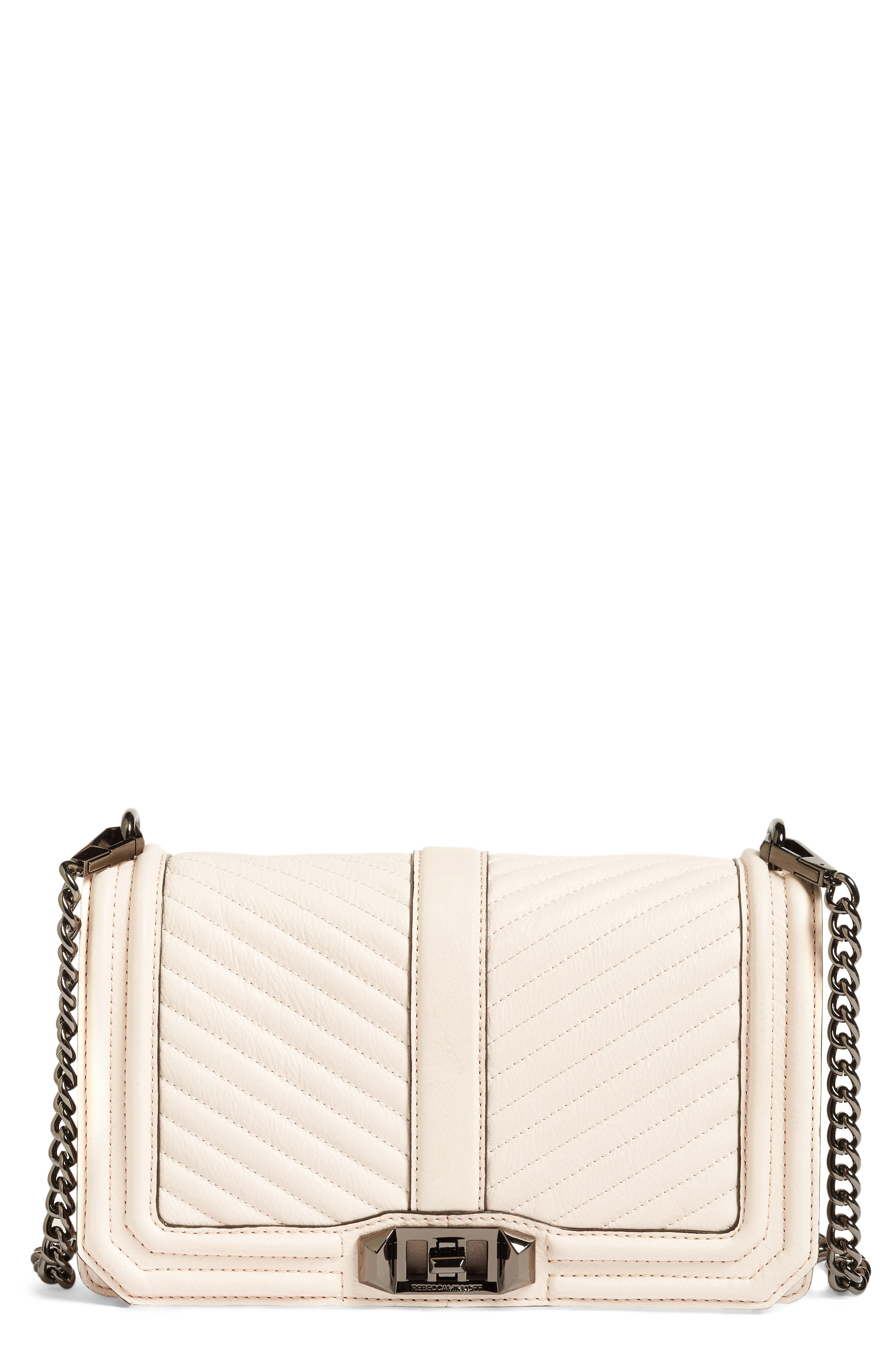 'Chevron Quilted Love' Crossbody Bag,                             Main thumbnail 19, color,