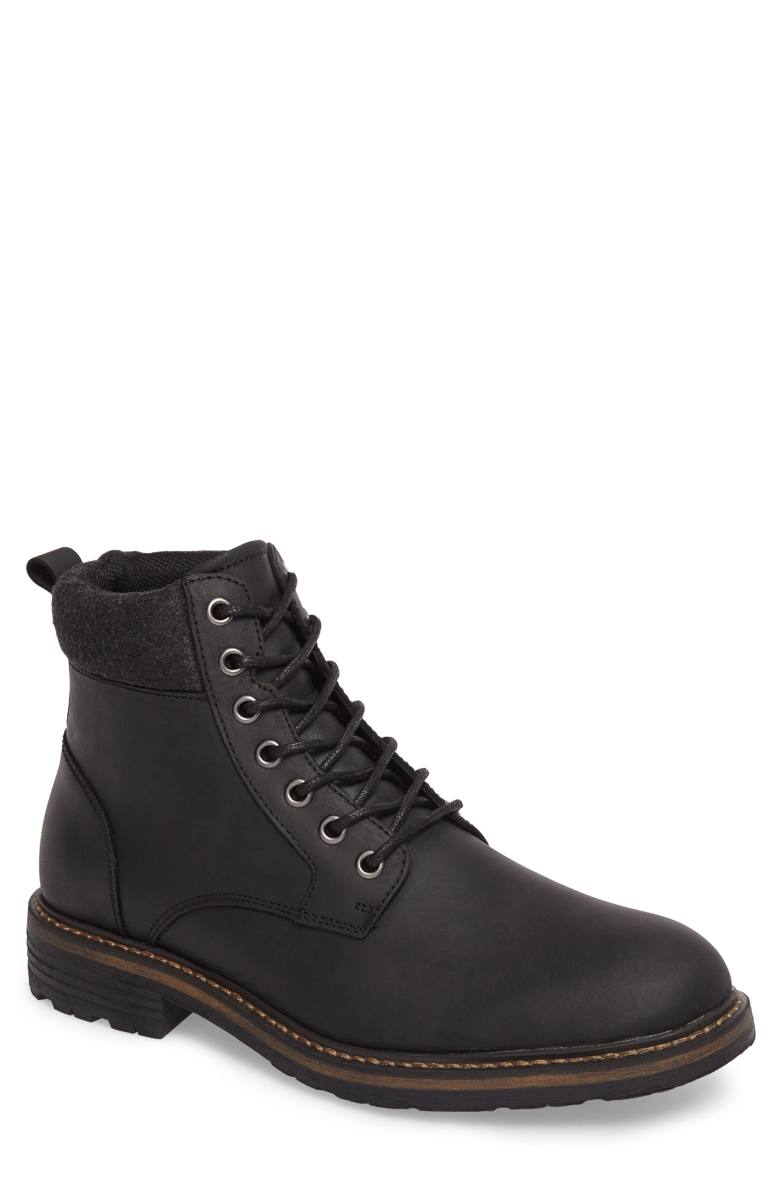 Grant Boot,                         Main,                         color, BLACK LEATHER
