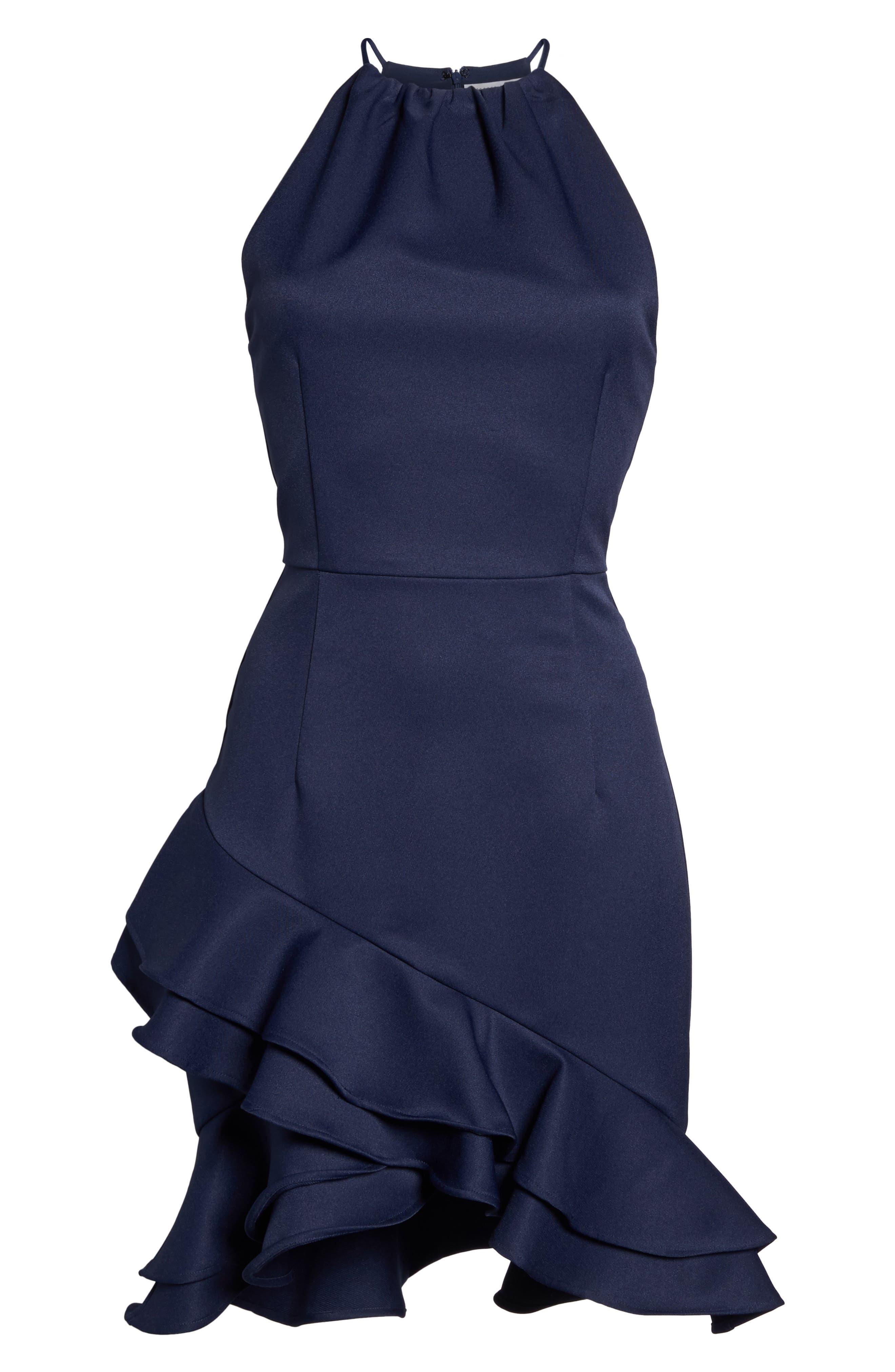 Dove Drift Ruffle Dress,                             Alternate thumbnail 6, color,                             400