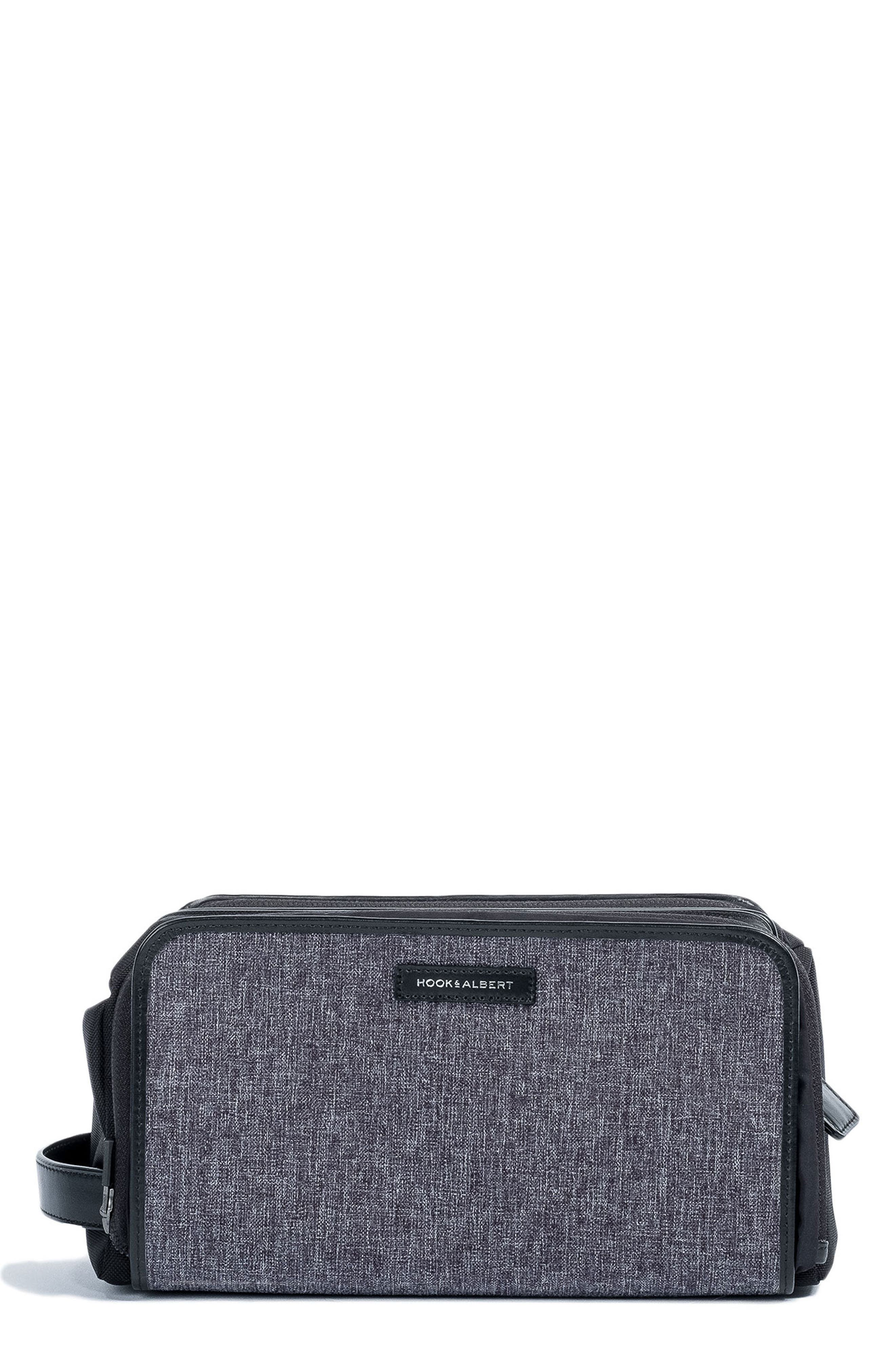 Twill Dopp Kit,                         Main,                         color, GREY