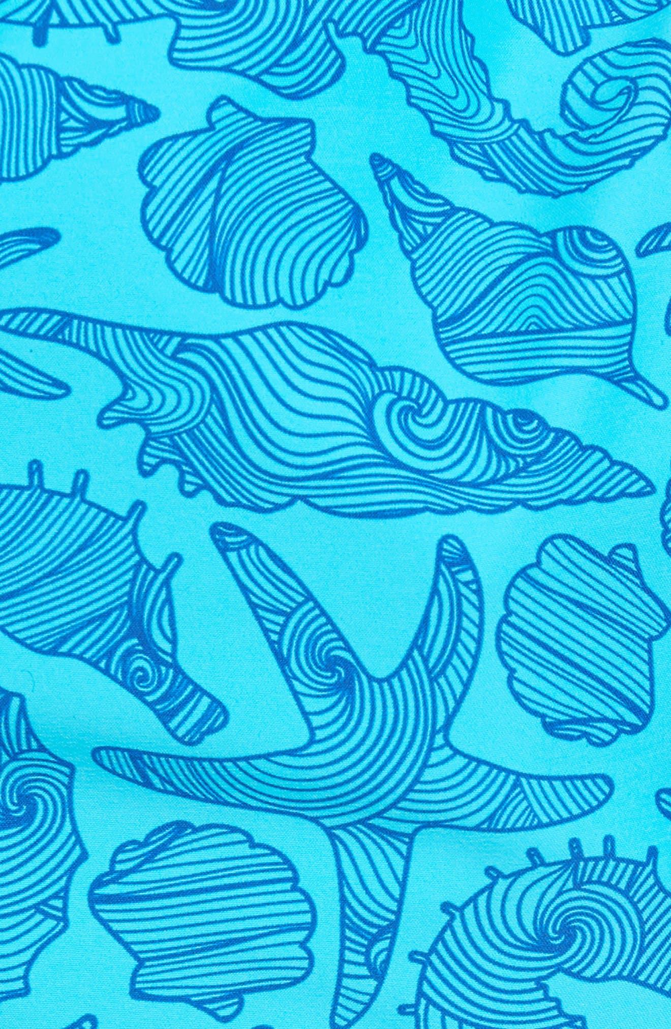 Seahorse Print Swim Trunks,                             Alternate thumbnail 5, color,                             432