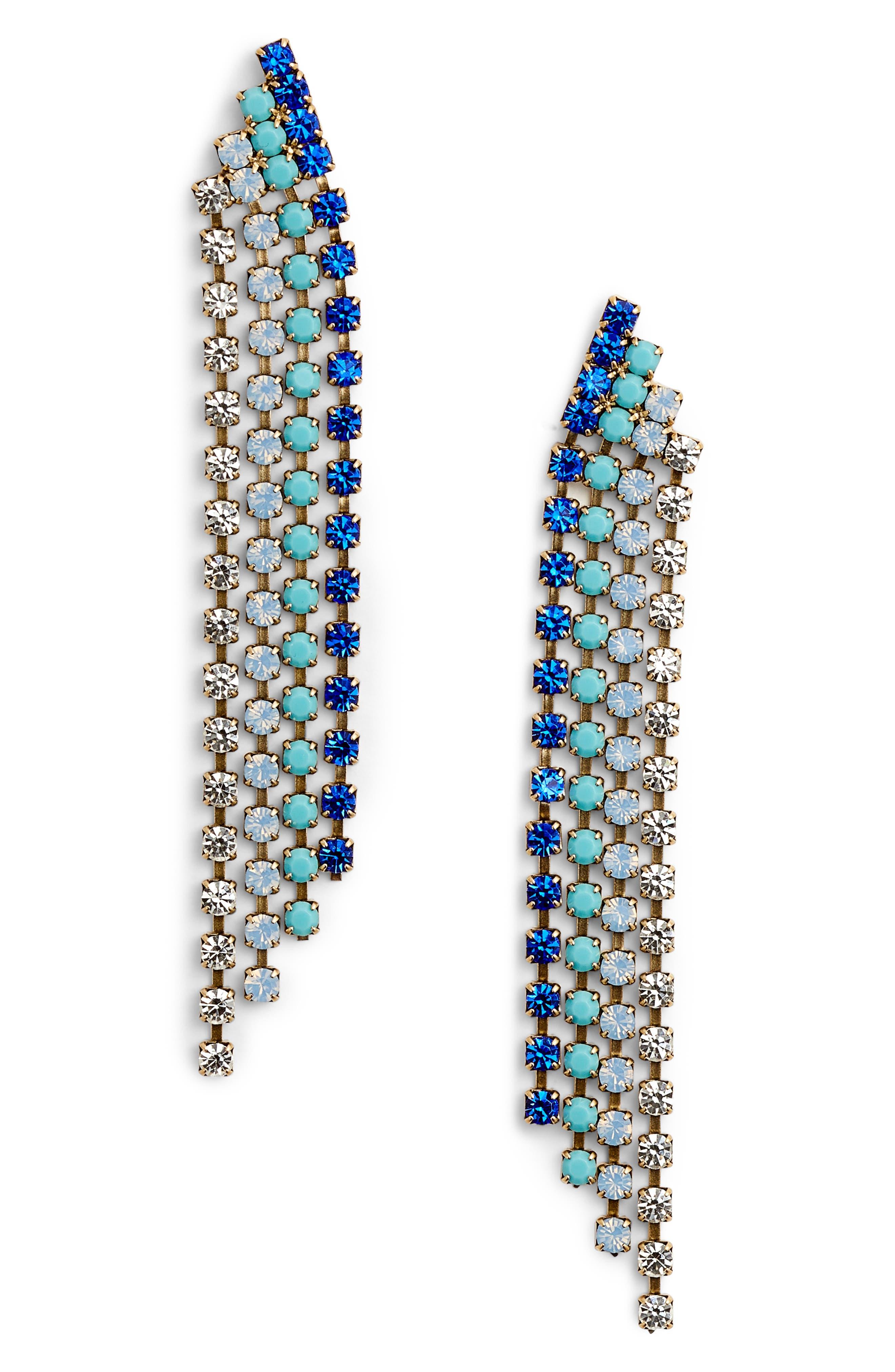 Marissa Drop Earrings,                         Main,                         color, BLUE