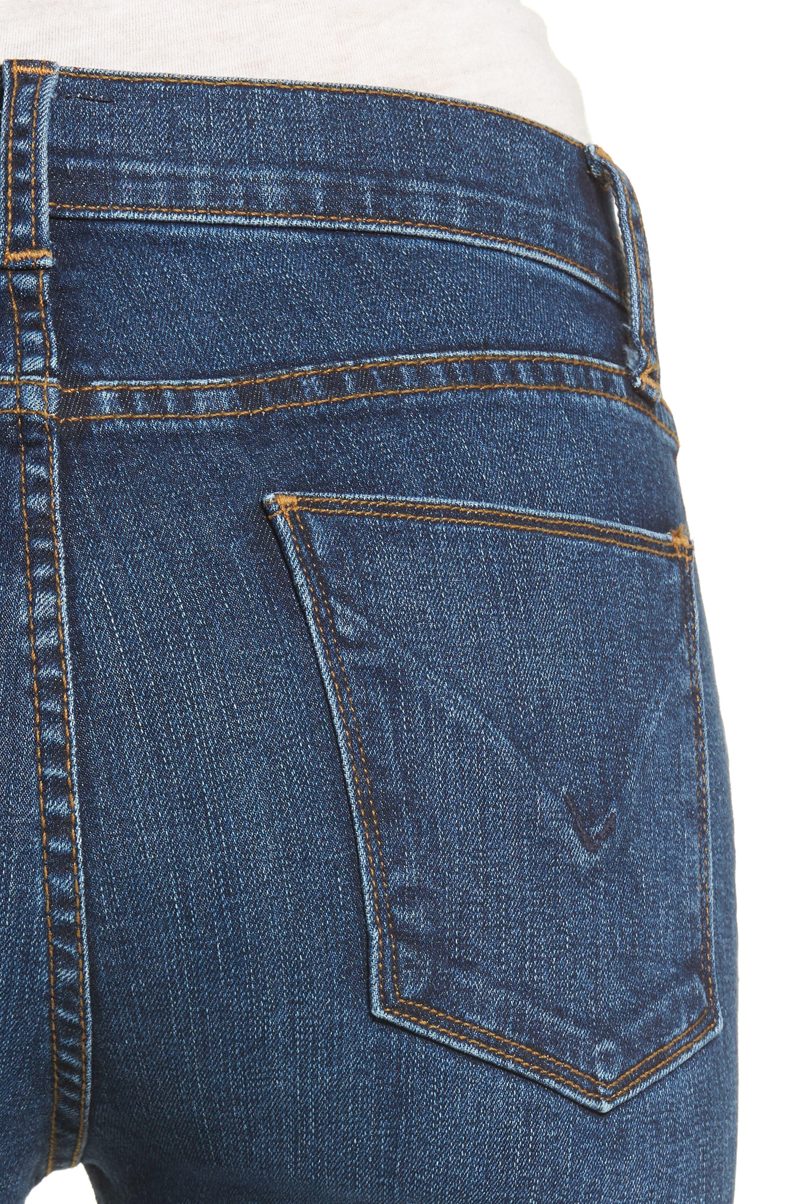 Barbara High Waist Super Skinny Jeans,                             Alternate thumbnail 4, color,                             400
