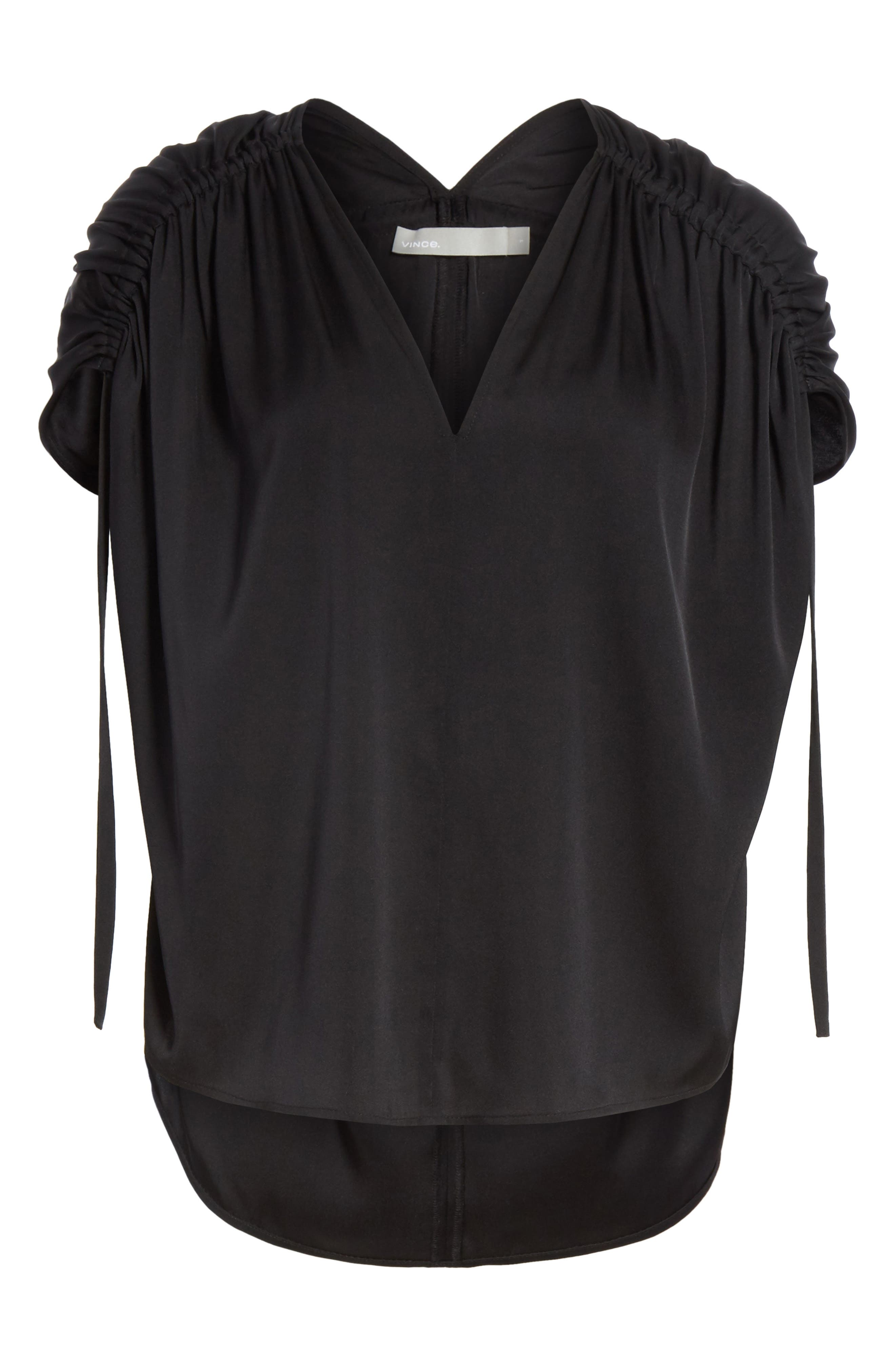 Ruched Silk Top,                             Alternate thumbnail 11, color,
