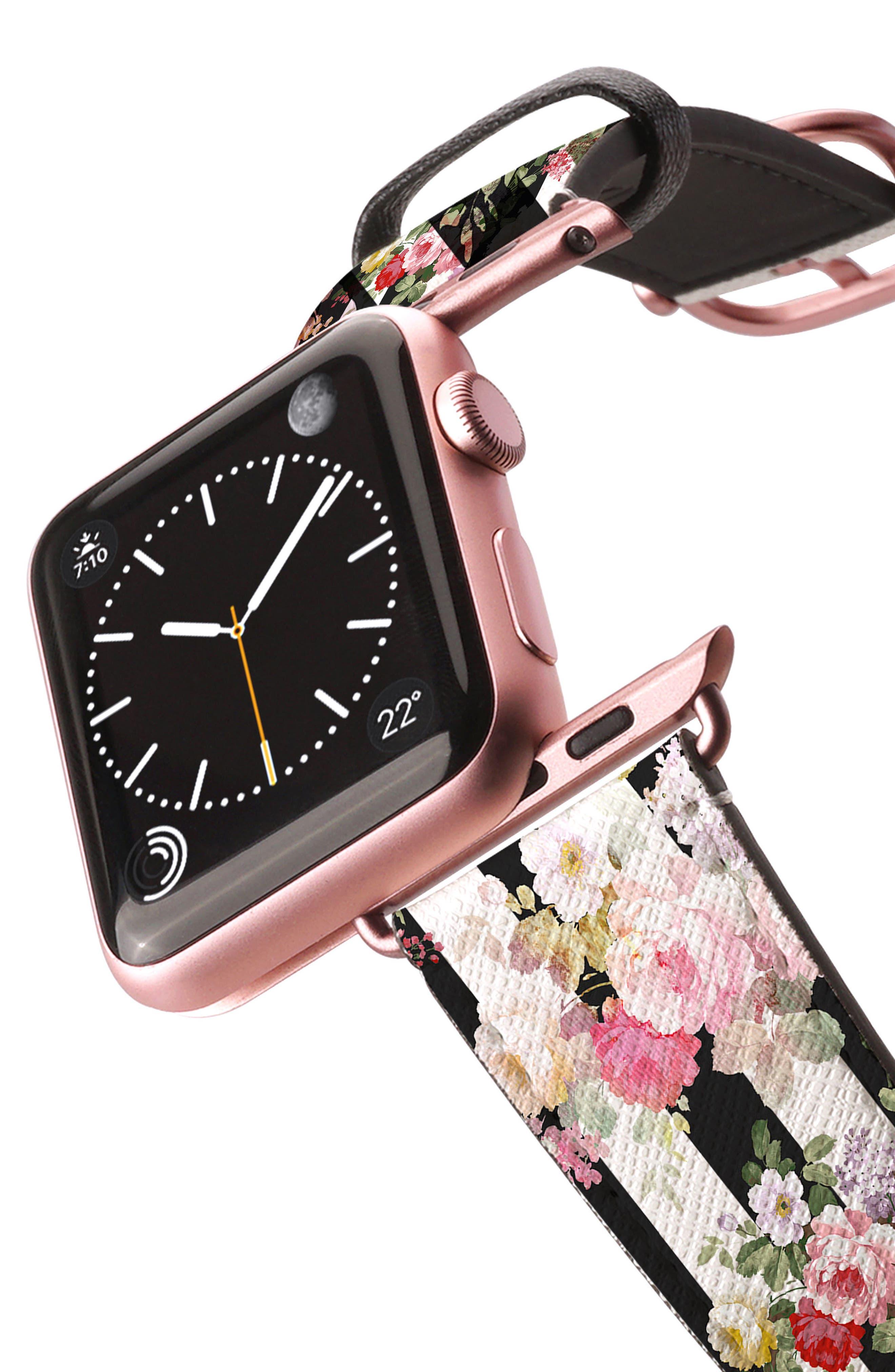 Saffiano Faux Leather Apple Watch Strap,                             Alternate thumbnail 23, color,